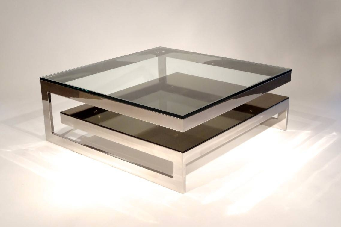 Furniture: Contemporary Glass Coffee Tables Ideas Small Glass regarding Low Square Coffee Tables (Image 11 of 30)