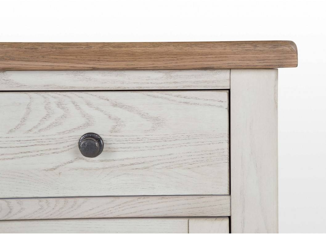 Furniture: Contemporary Version Of Distressed Sideboard Buffet in White Wooden Sideboards (Image 7 of 30)