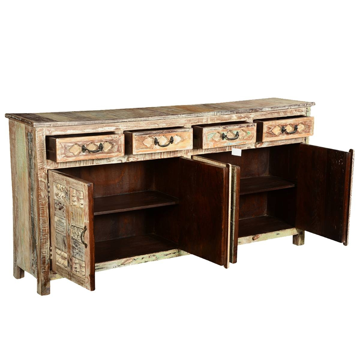 Furniture: Contemporary Version Of Distressed Sideboard Buffet regarding Metal Sideboards (Image 11 of 30)