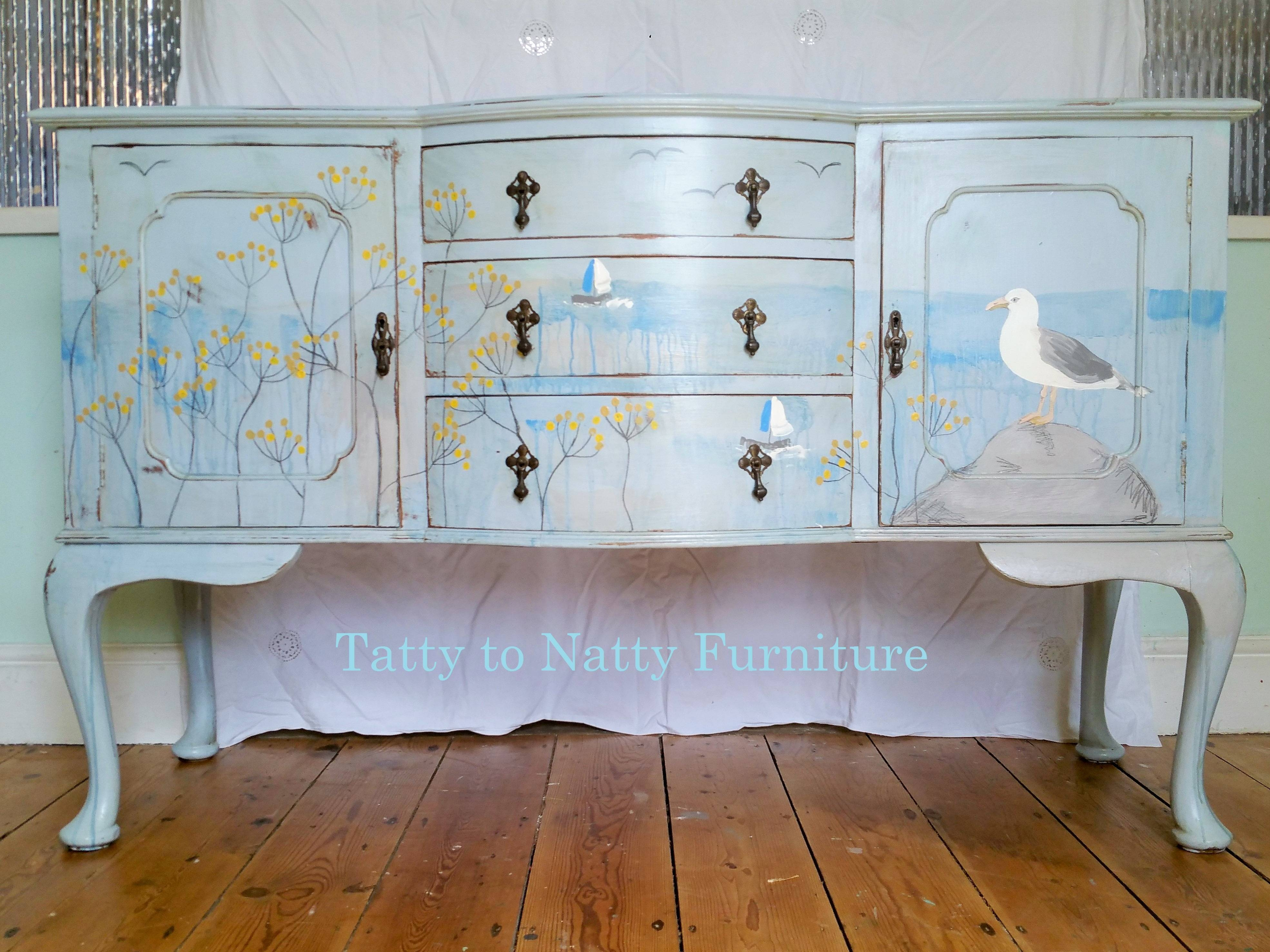 Furniture: Contemporary Version Of Distressed Sideboard Buffet within White Distressed Finish Sideboards (Image 19 of 30)