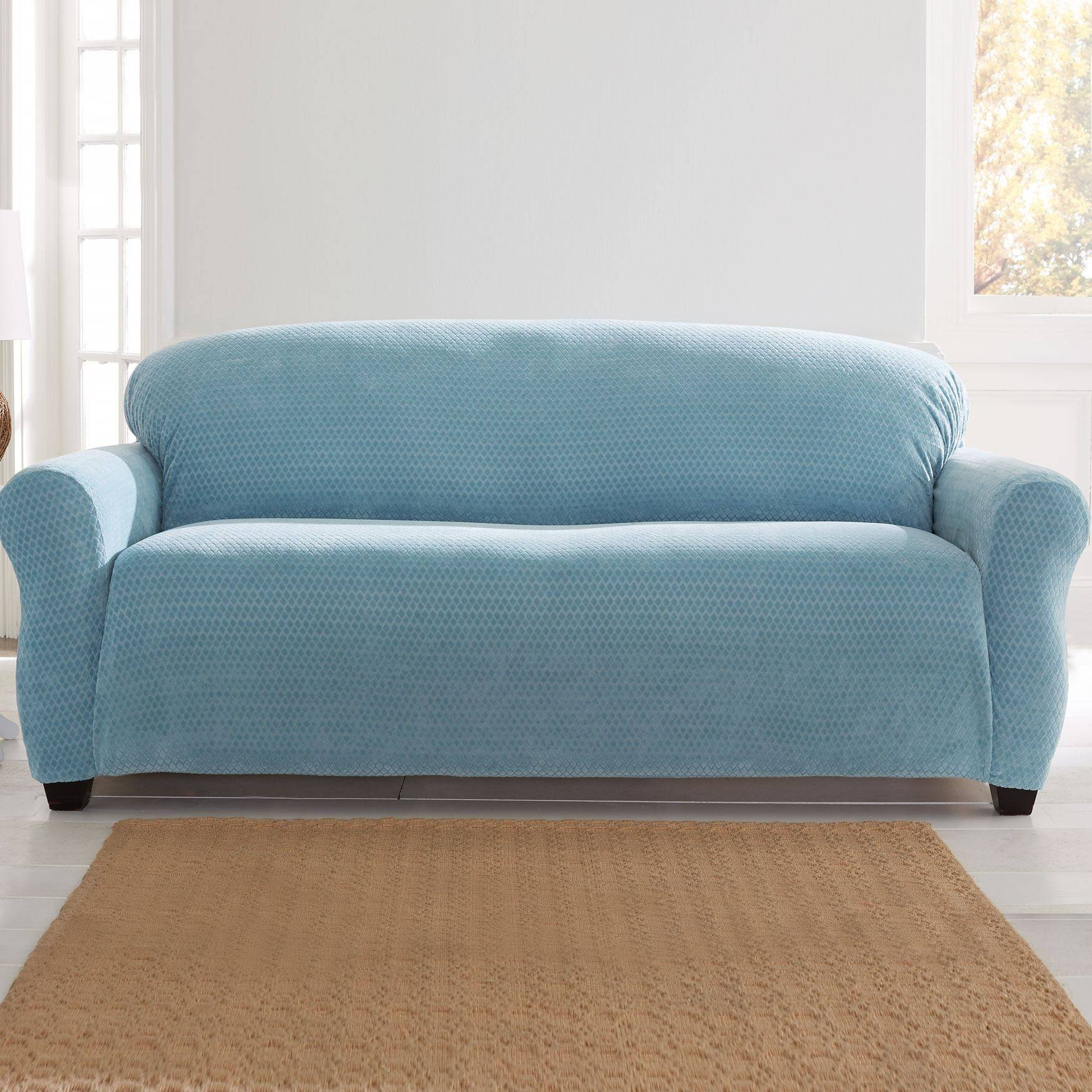 Furniture: Cool Stretch Sofa Covers To Protect And Renew Your Sofa for Turquoise Sofa Covers (Image 7 of 30)