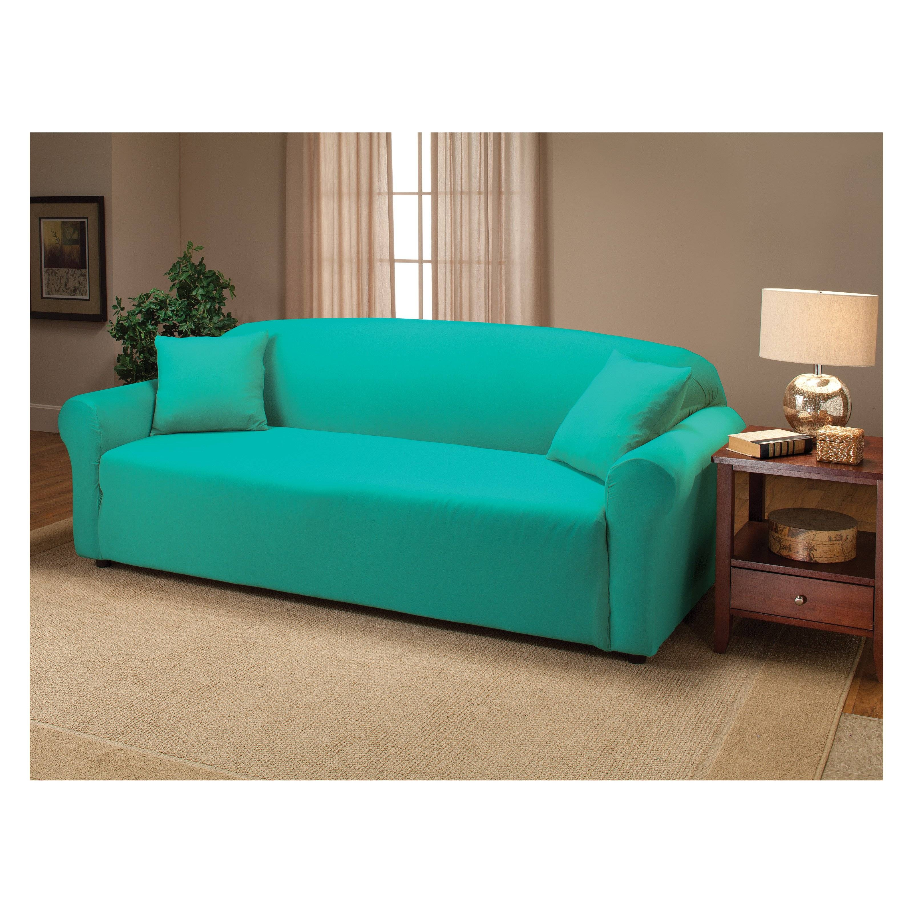 Furniture: Cool Stretch Sofa Covers To Protect And Renew Your Sofa Regarding Sofa Settee Covers (View 13 of 30)