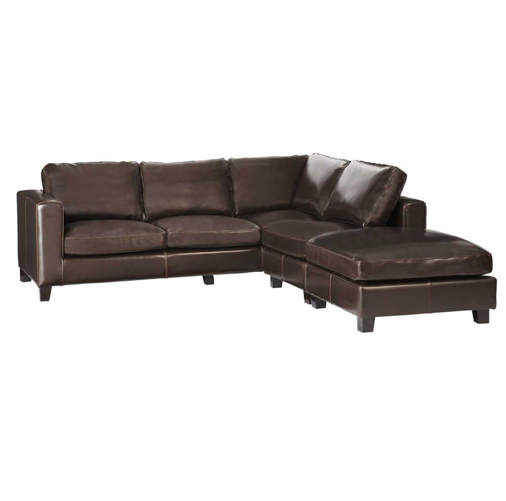 Furniture: Cosmo Contemporary Black Leather Corner Sofa With Glass in Corner Sofa Bed Sale (Image 8 of 30)