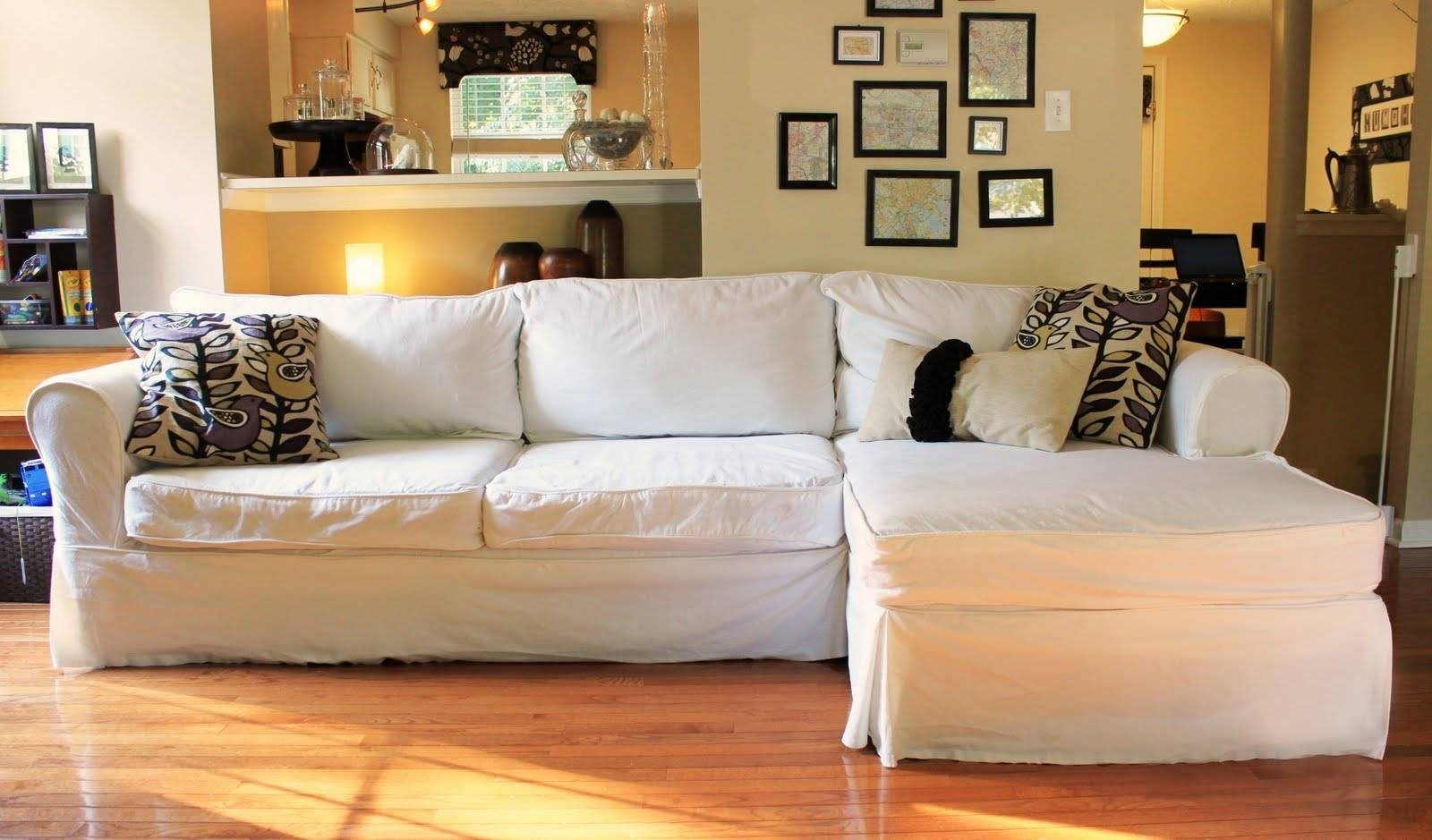 Furniture: Couch Covers Walmart For Easily Protect Your Furniture intended for Black Slipcovers For Sofas (Image 11 of 30)