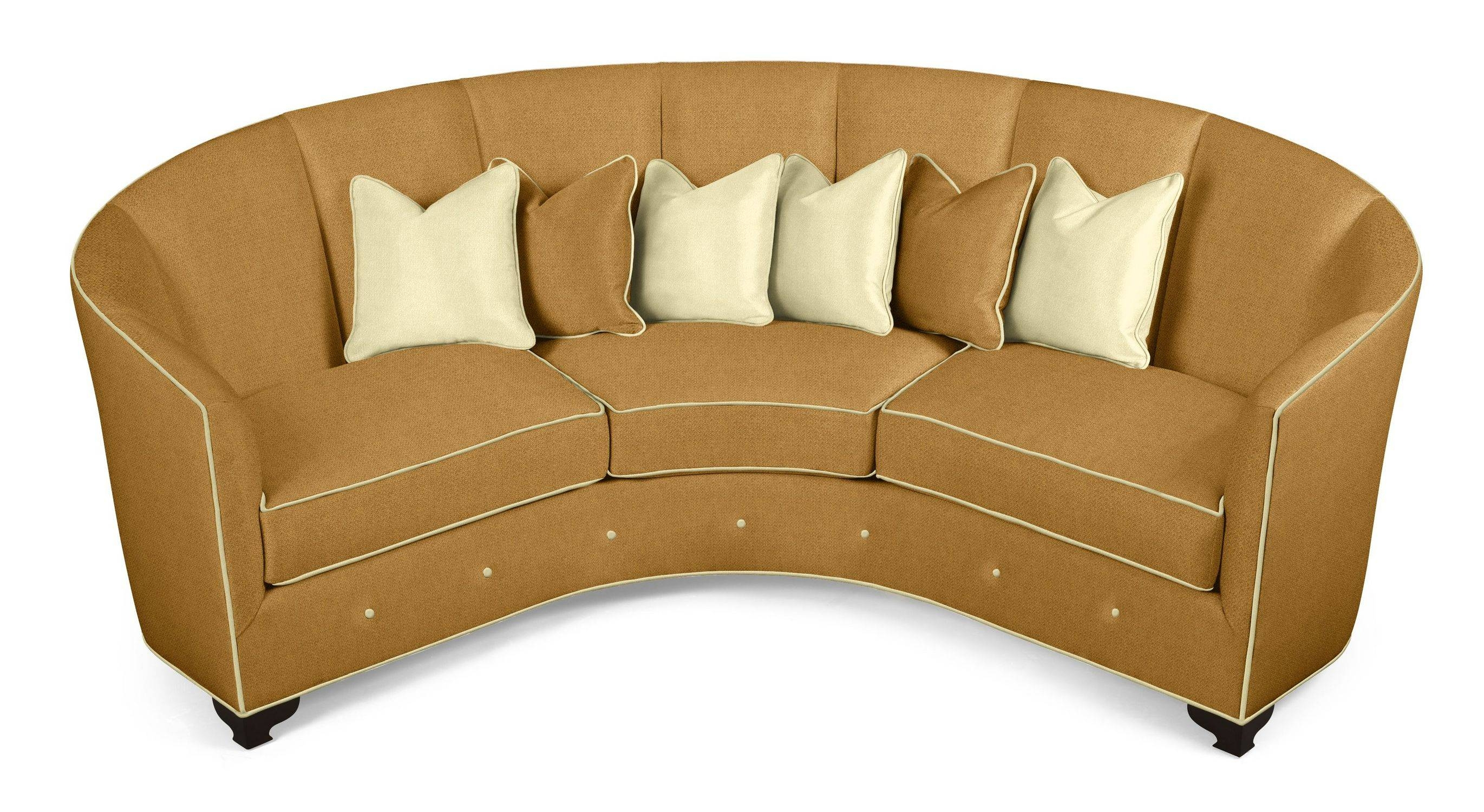 Furniture: Couch Sectional | Sofa With Chaise Lounge | Round Couches pertaining to Round Sofas (Image 8 of 30)