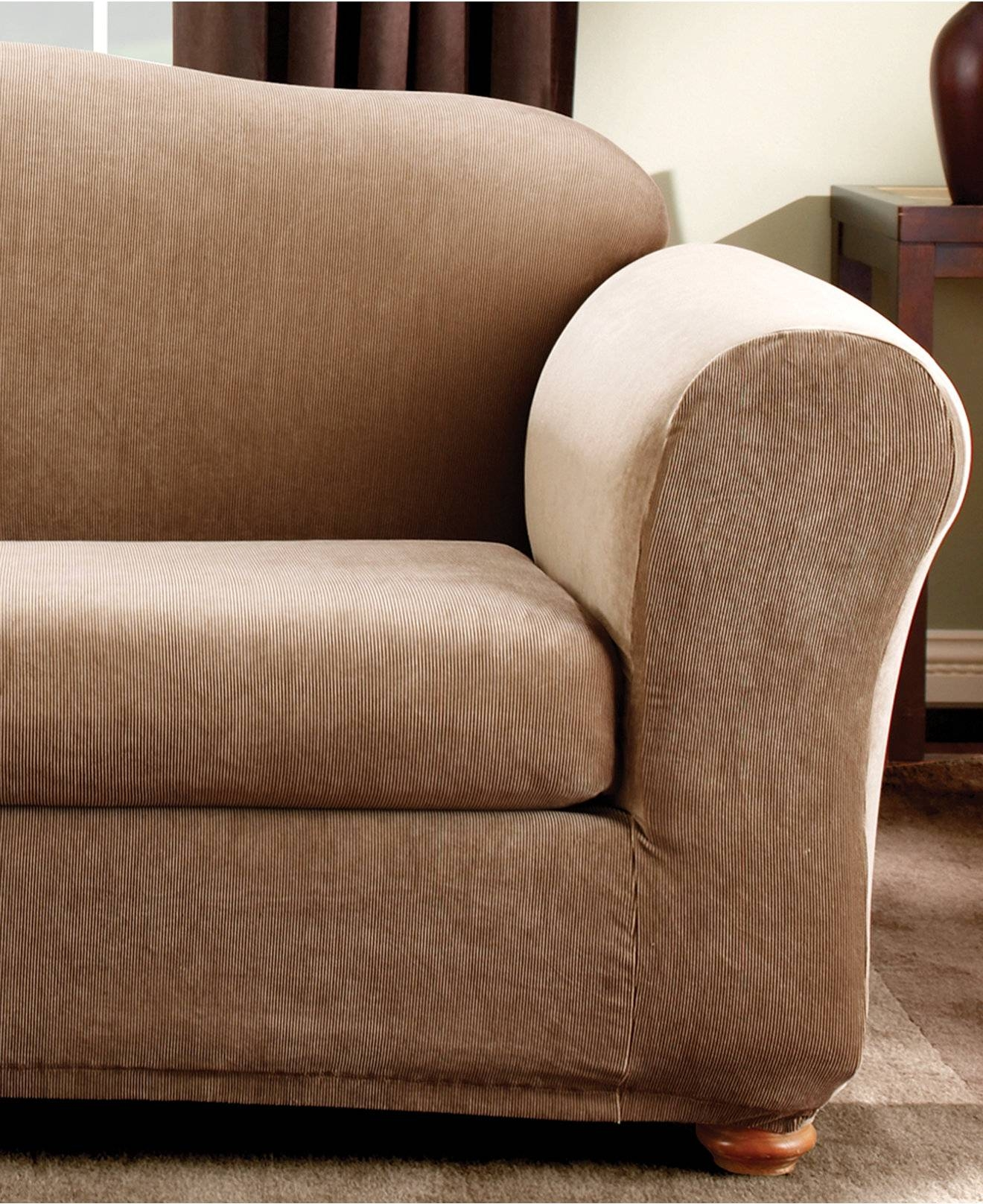 Furniture: Couch Slip Cover Will Stand Up To The Rigors Of with Sofa Loveseat Slipcovers (Image 7 of 30)