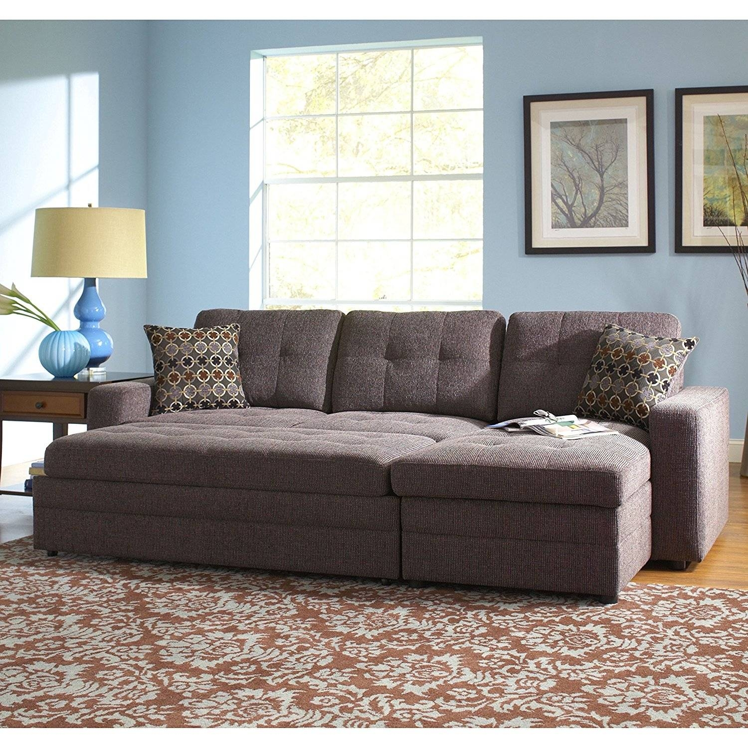 Furniture: Cozy Grey Sectional Sofa For Modern Family Room with regard to Mini Sectional Sofas (Image 10 of 30)