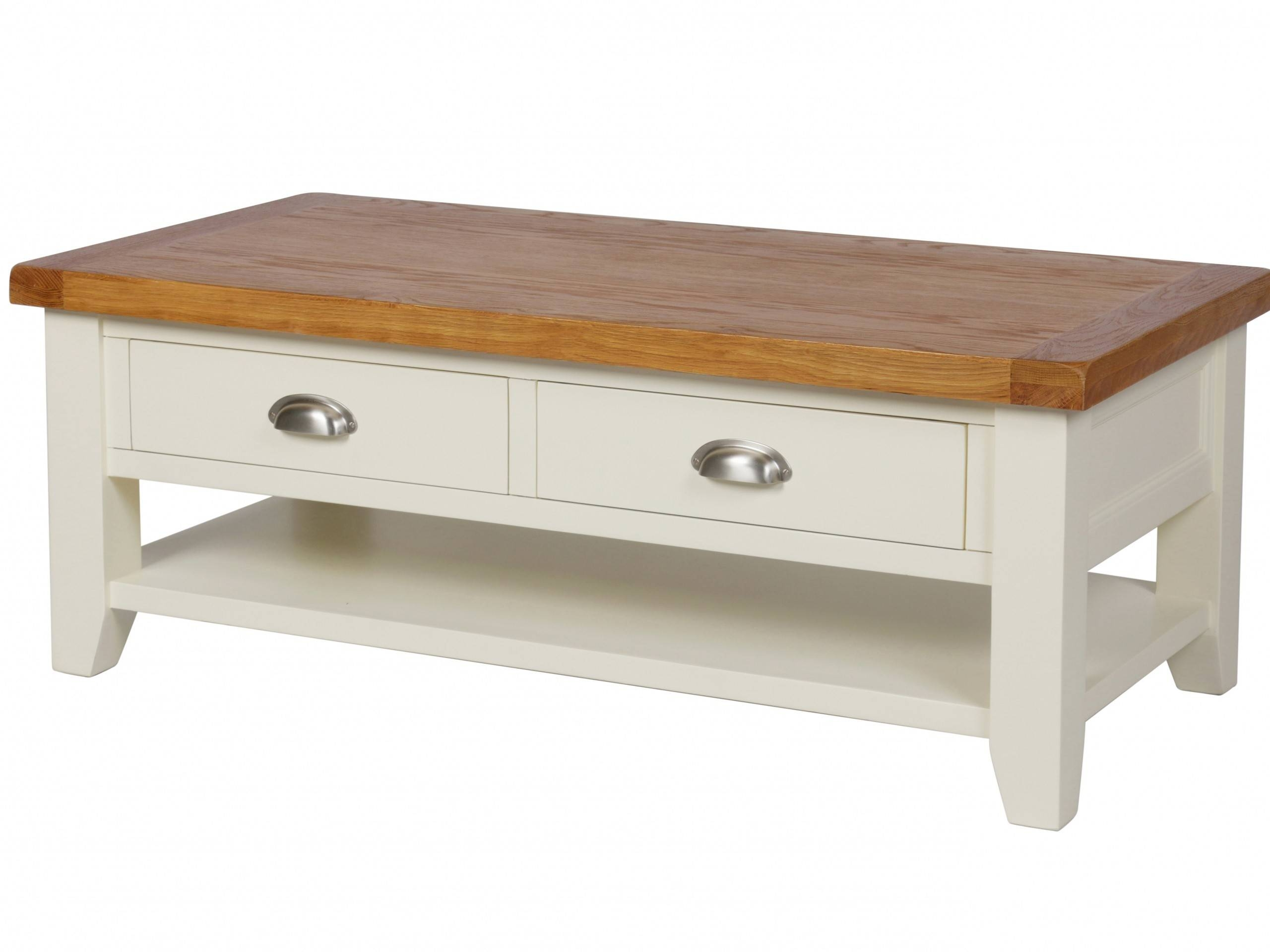 Featured Photo of Cream Coffee Tables With Drawers
