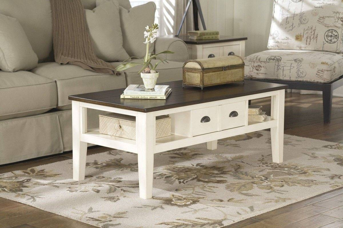Furniture. Cream Coffee Table Ideas: Rectangle Modern Wooden Cream for Cream Coffee Tables With Drawers (Image 14 of 25)