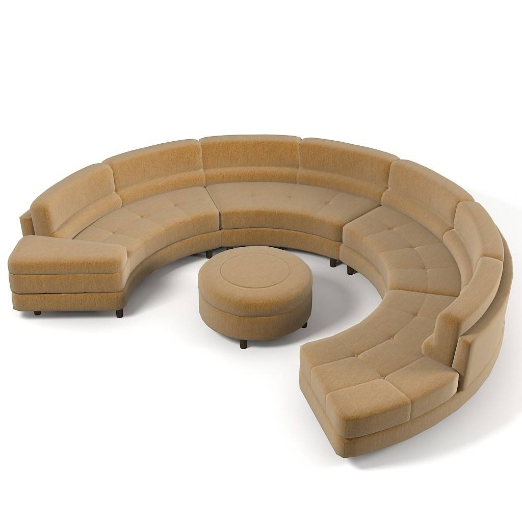 Furniture: Create Your Comfortable Living Room Decor With Round In Circular Sectional Sofa (View 13 of 30)