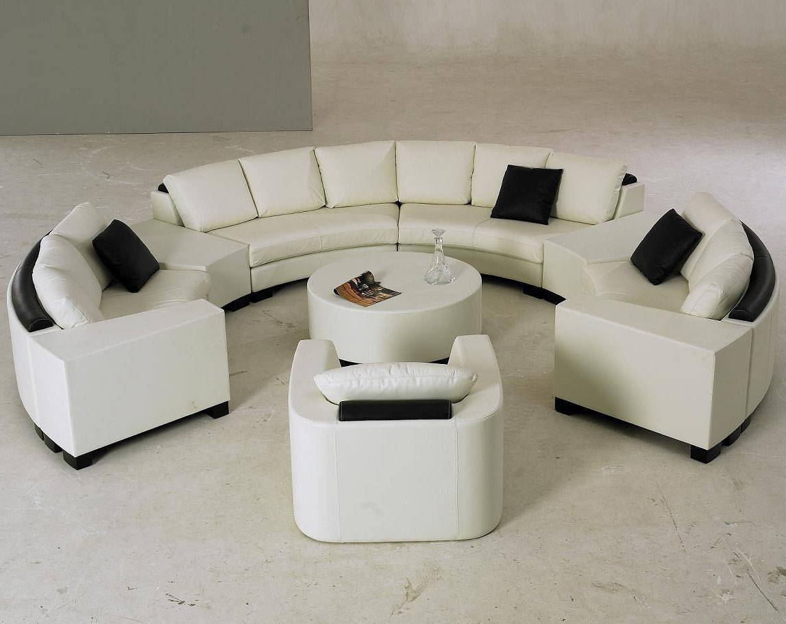 Furniture: Create Your Comfortable Living Room Decor With Round with C Shaped Sofas (Image 19 of 30)