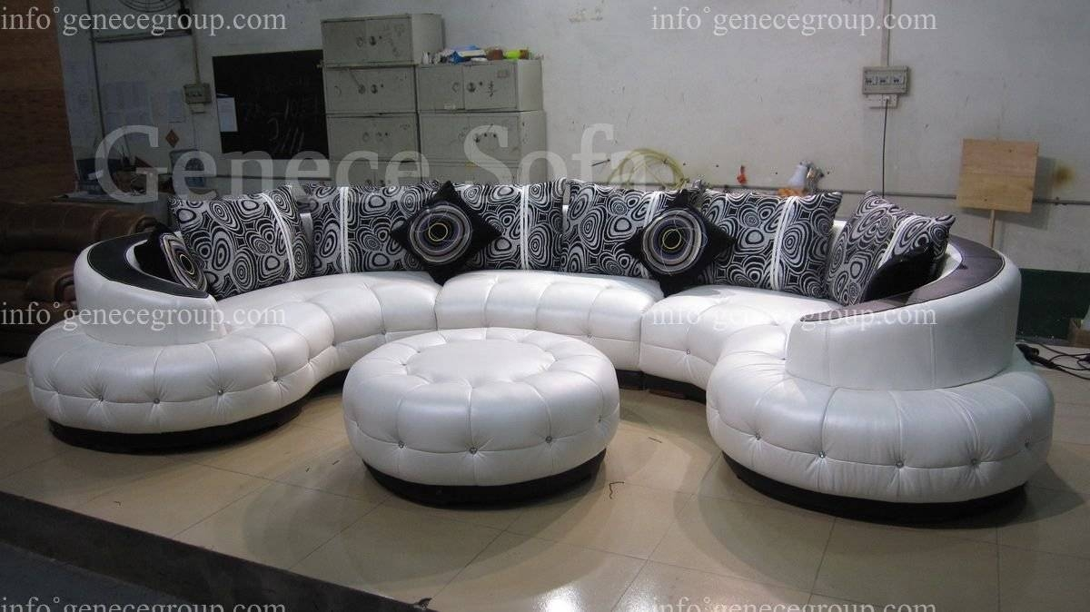 Furniture: Create Your Comfortable Living Room Decor With Round with regard to Rounded Sofa (Image 9 of 25)