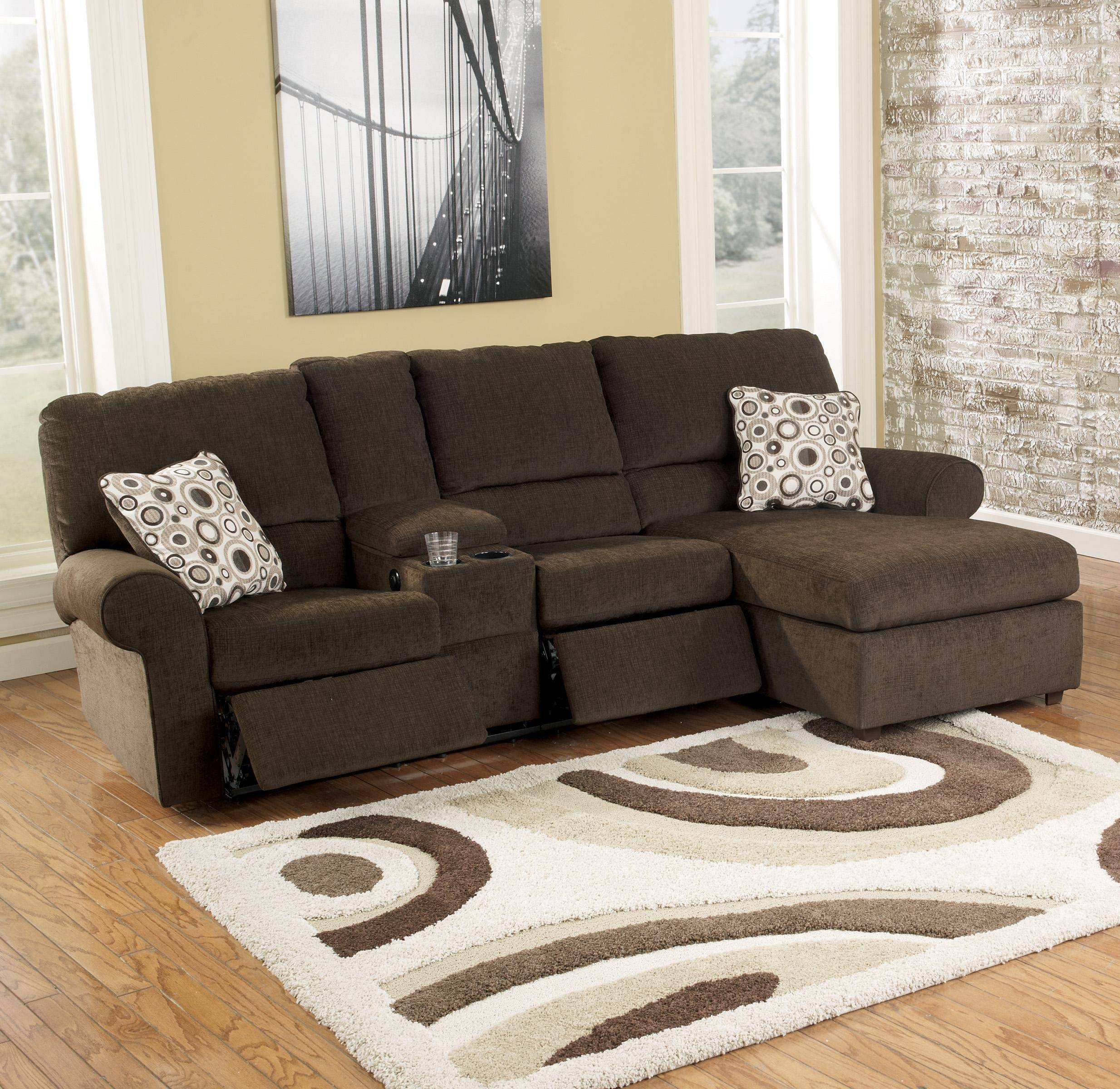 Furniture: Create Your Living Room With Cool Sectional Recliner for Recliner Sectional Sofas (Image 7 of 30)