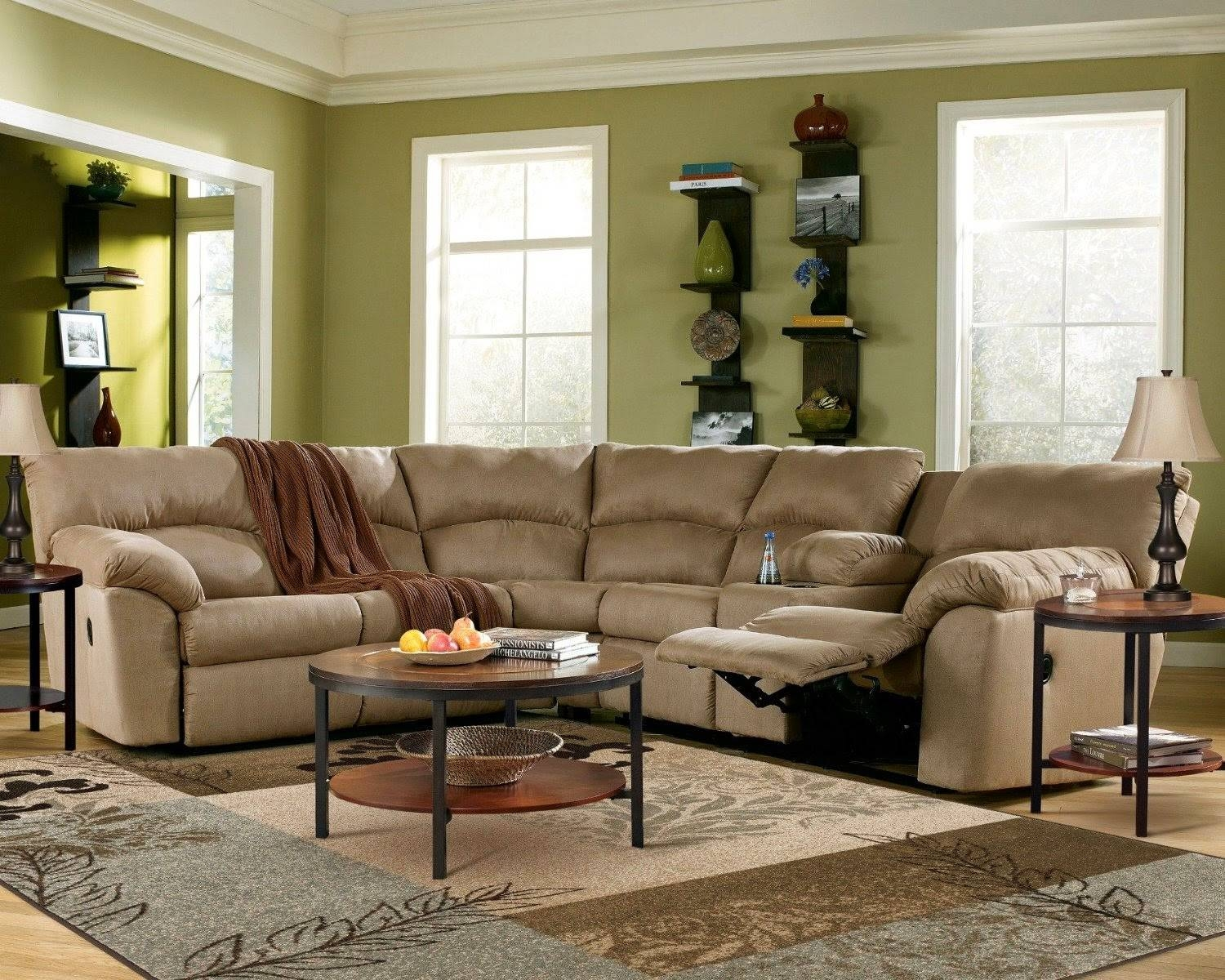 Furniture: Create Your Living Room With Cool Sectional Recliner Inside Jedd Fabric Reclining Sectional Sofa (Image 6 of 30)