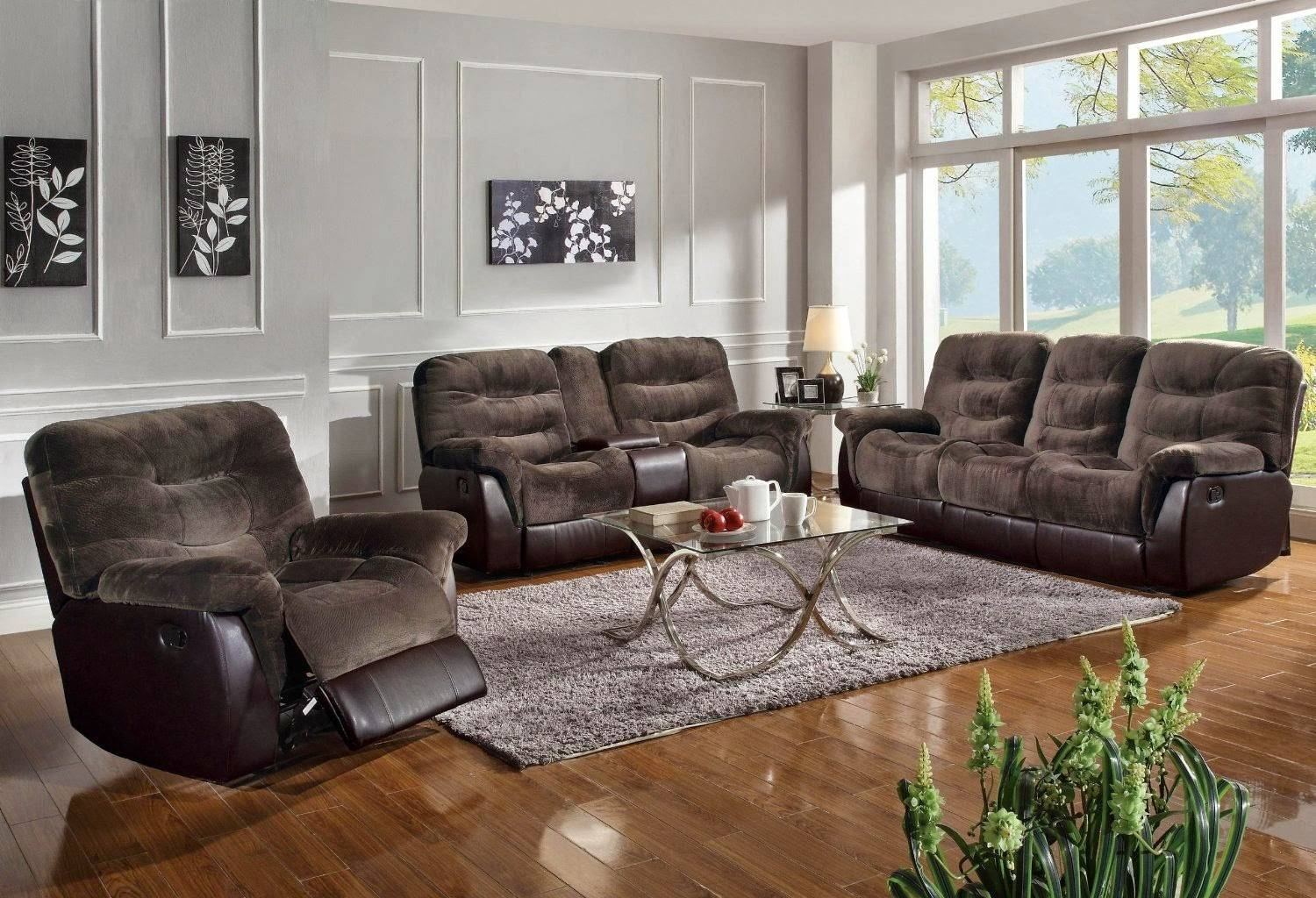 Furniture: Create Your Living Room With Cool Sectional Recliner pertaining to Modern Microfiber Sectional Sofa (Image 17 of 30)