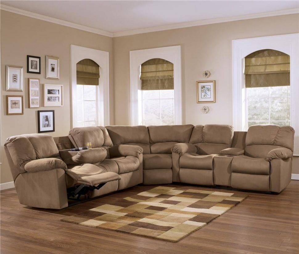 Furniture: Create Your Living Room With Cool Sectional Recliner with regard to Jedd Fabric Reclining Sectional Sofa (Image 9 of 30)