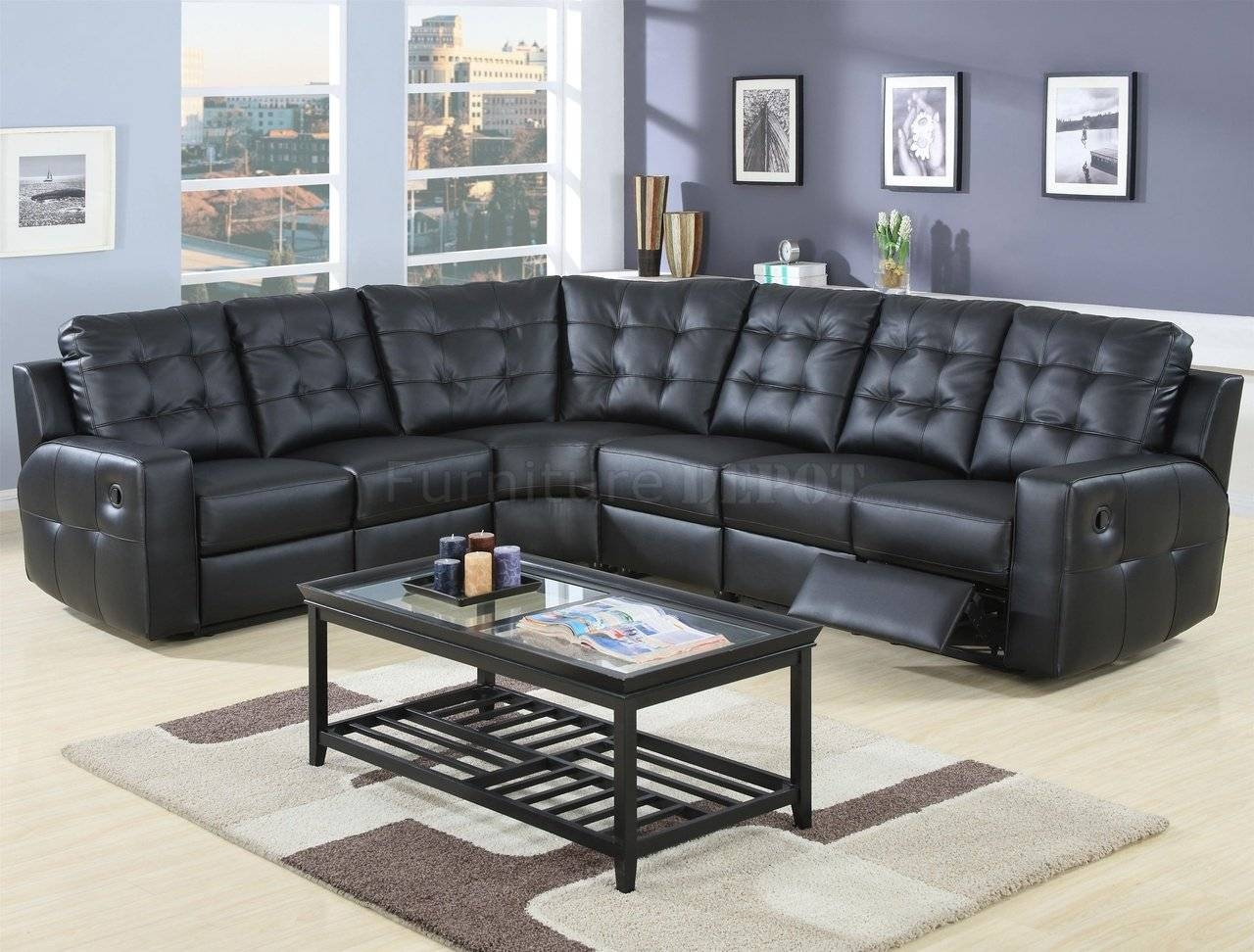 Furniture: Create Your Living Room With Cool Sectional Recliner within Modern Reclining Leather Sofas (Image 6 of 30)