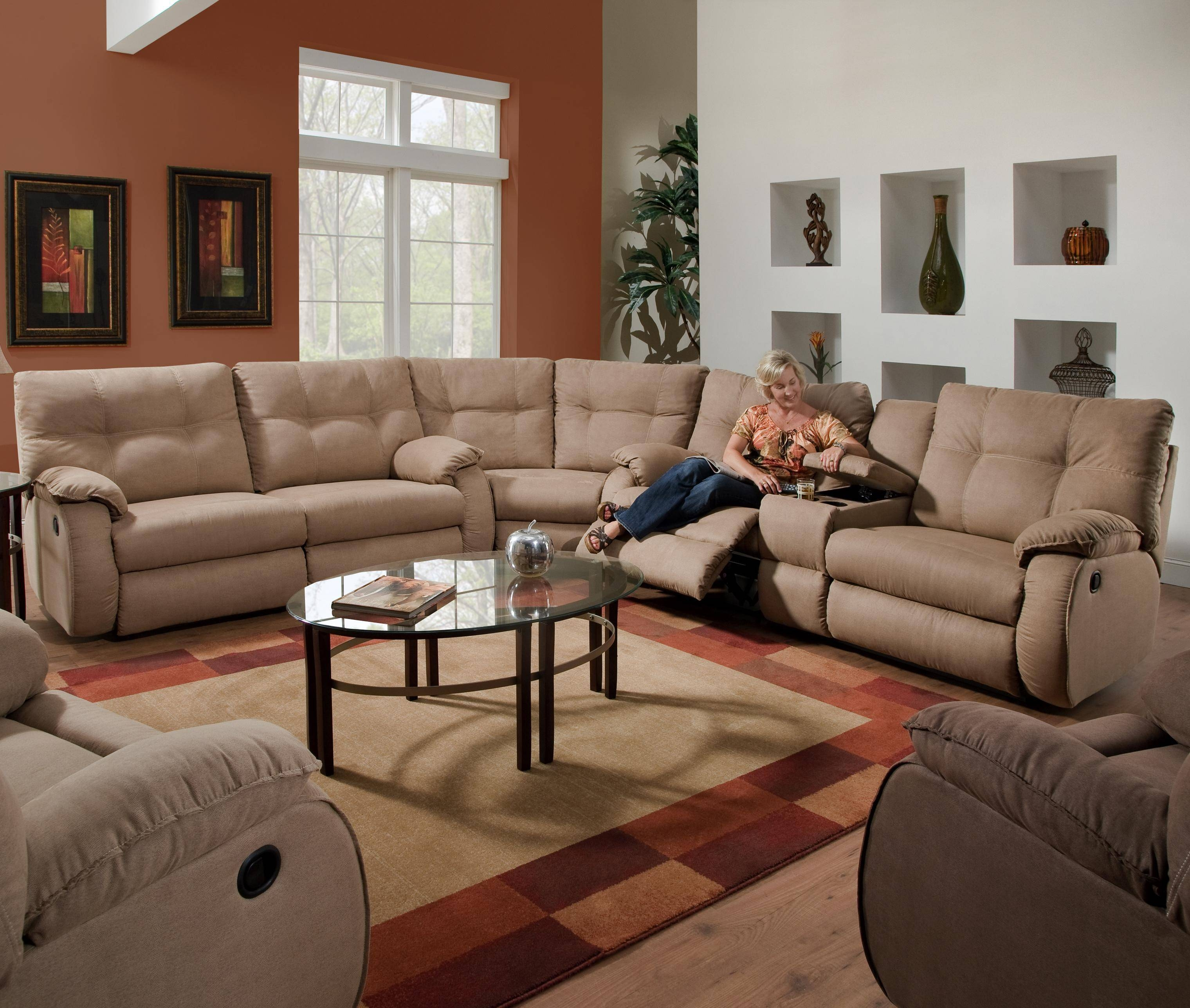 Furniture: Create Your Living Room With Cool Sectional Recliner within Sectional Sofa Recliners (Image 5 of 30)