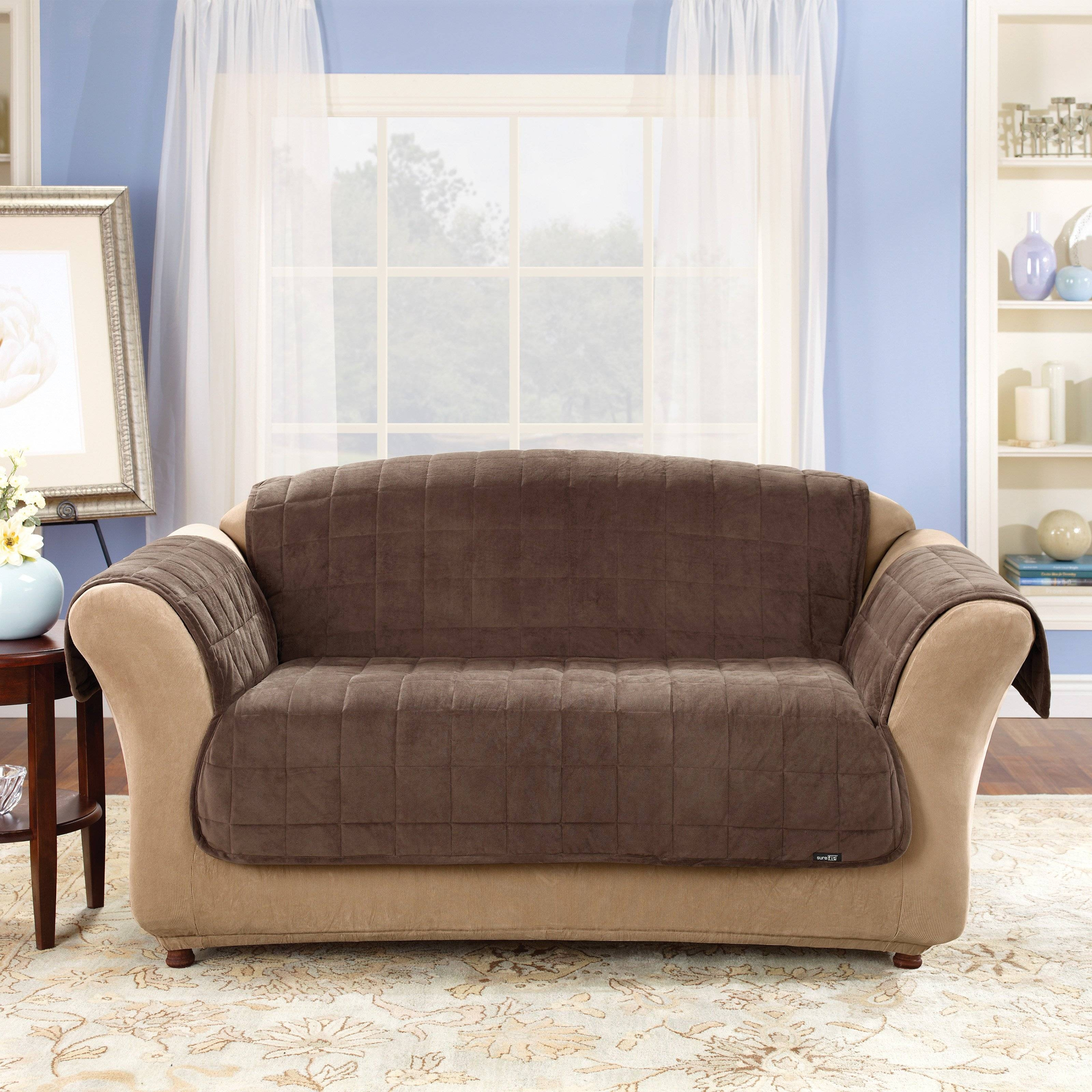 Furniture: Creates Clean Foundation That Complements Decorating with regard to Slipcover For Leather Sectional Sofas (Image 8 of 30)