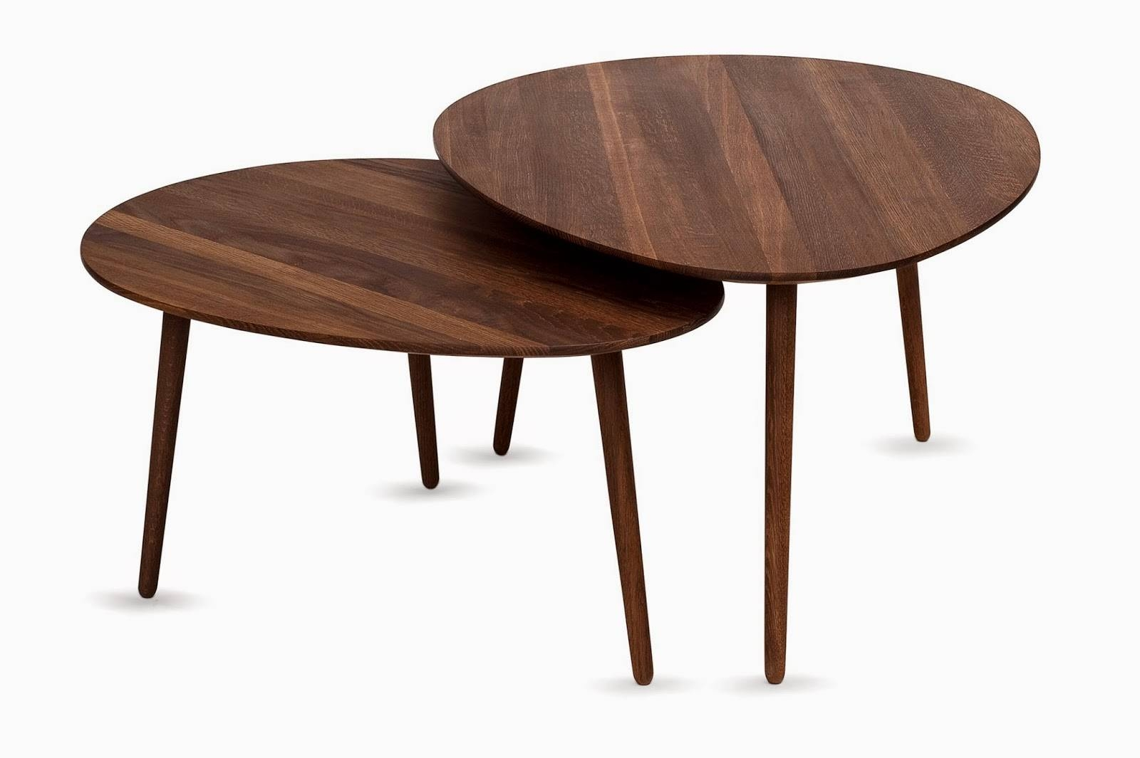 Furniture: Creative Minimalist Small Oval Coffee Table For Living Intended For Small Wood Coffee Tables (View 7 of 30)