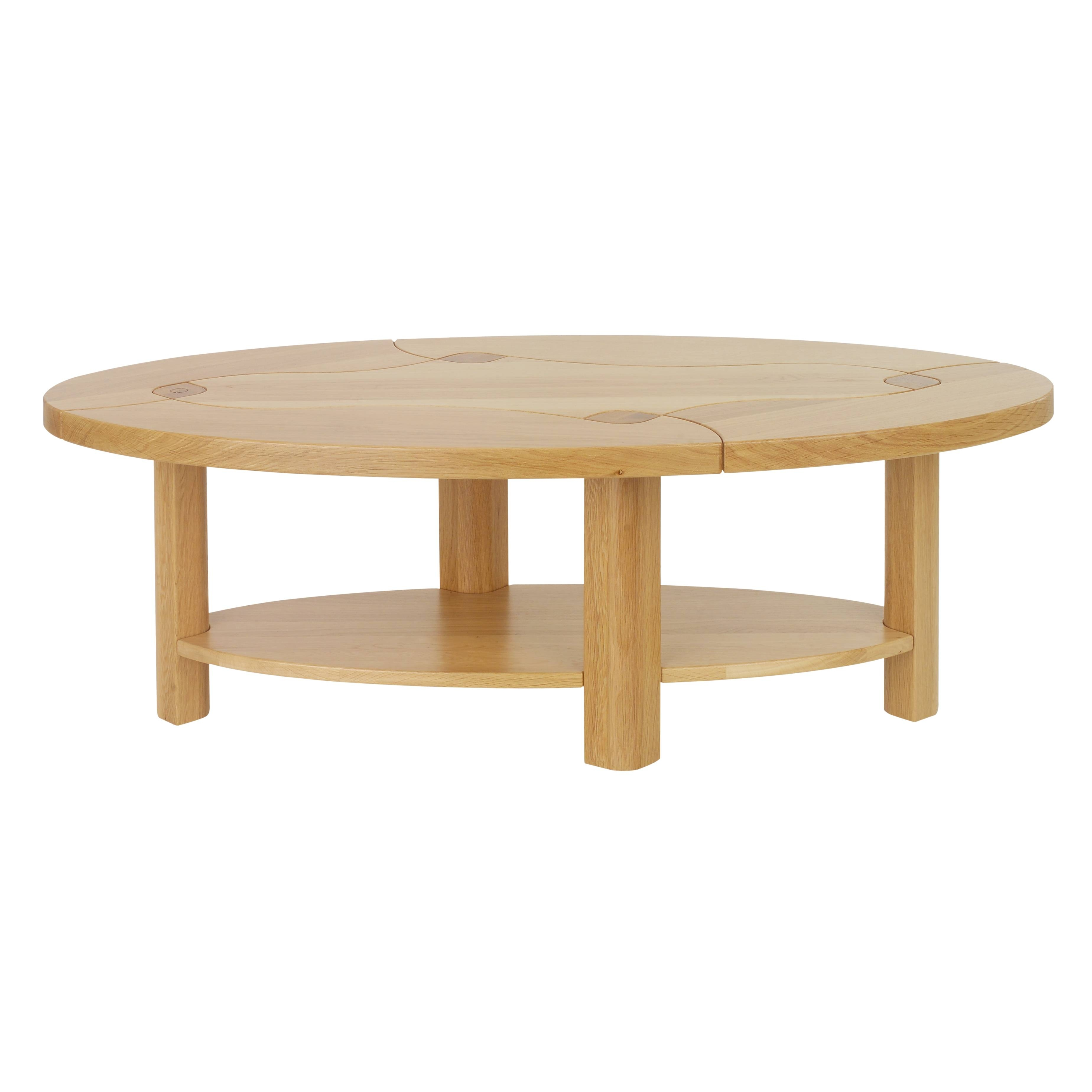Furniture: Creative Minimalist Small Oval Coffee Table For Living Regarding Small Wood Coffee Tables (View 19 of 30)