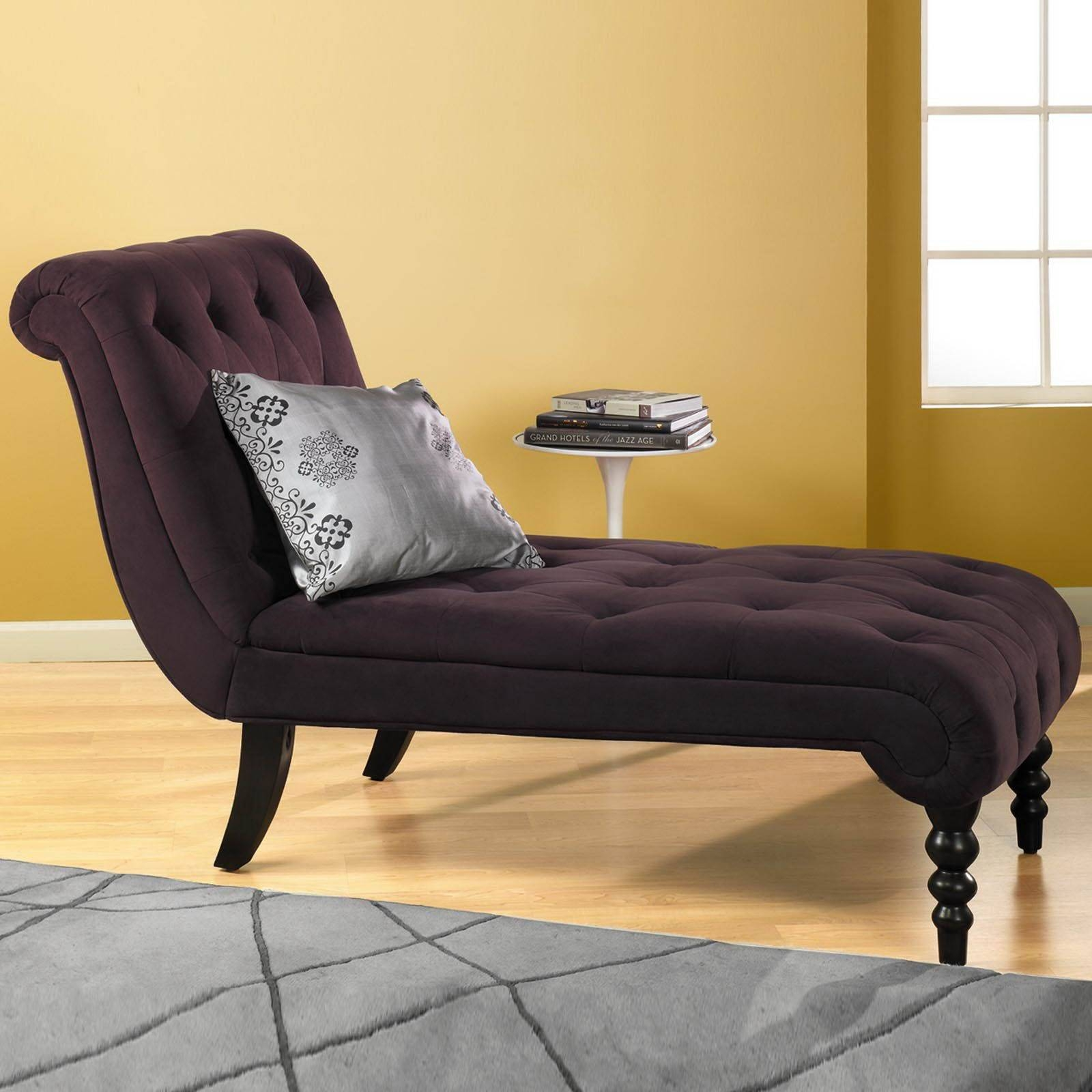 Furniture: Cute Purple Chaise Lounge For Living Room Furniture intended for Chaise Sofa Chairs (Image 13 of 15)