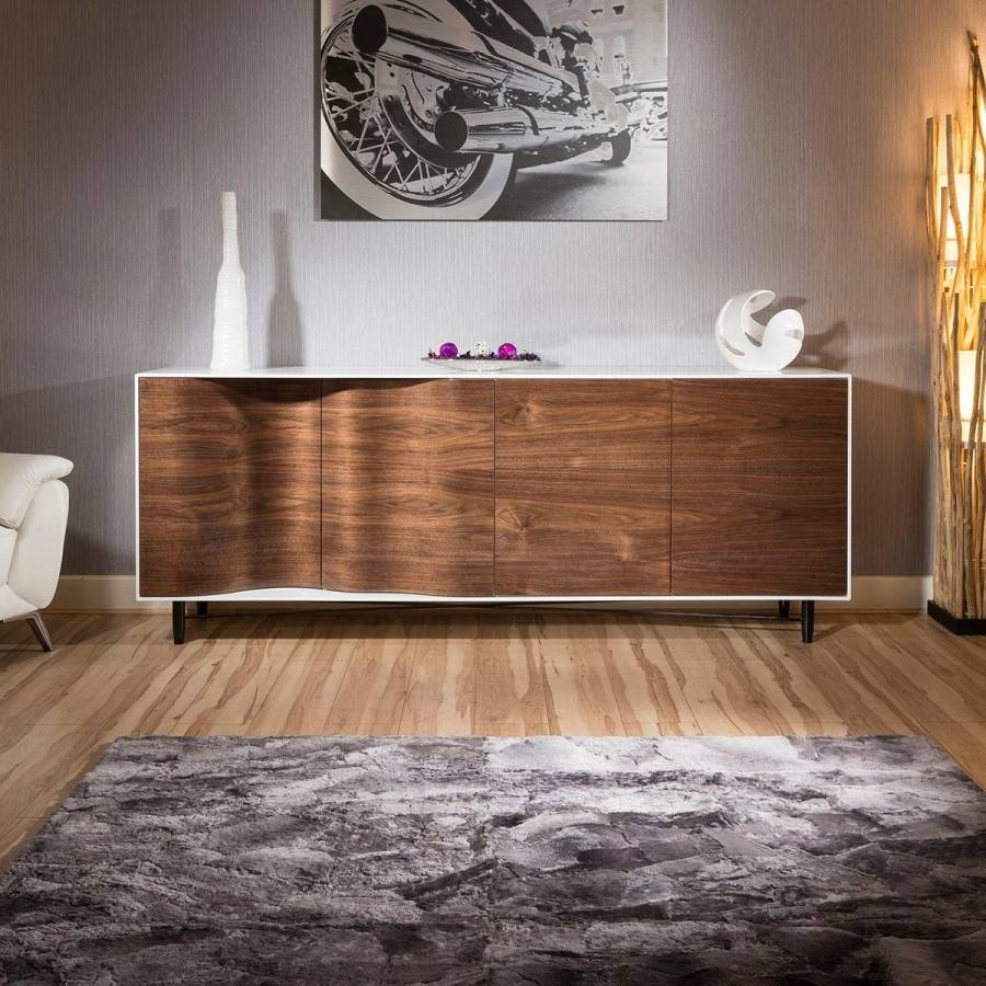 Furniture: Danish Modern Sideboard With Storage Sideboard Cabinet in Modern Living Room Sideboards (Image 17 of 30)