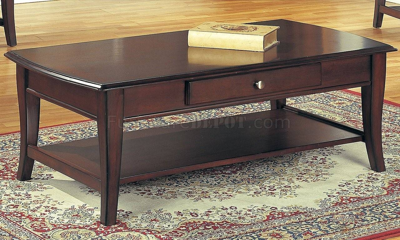 Furniture. Dark Brown Coffee Table Ideas: Rectangle Antique Solid with regard to Dark Brown Coffee Tables (Image 21 of 30)