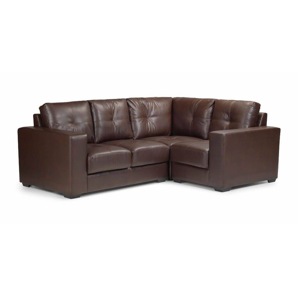 Furniture: Dark Brown Leather Corner Sofa Ideas With Chaise Lounge Throughout Small Brown Leather Corner Sofas (View 8 of 30)