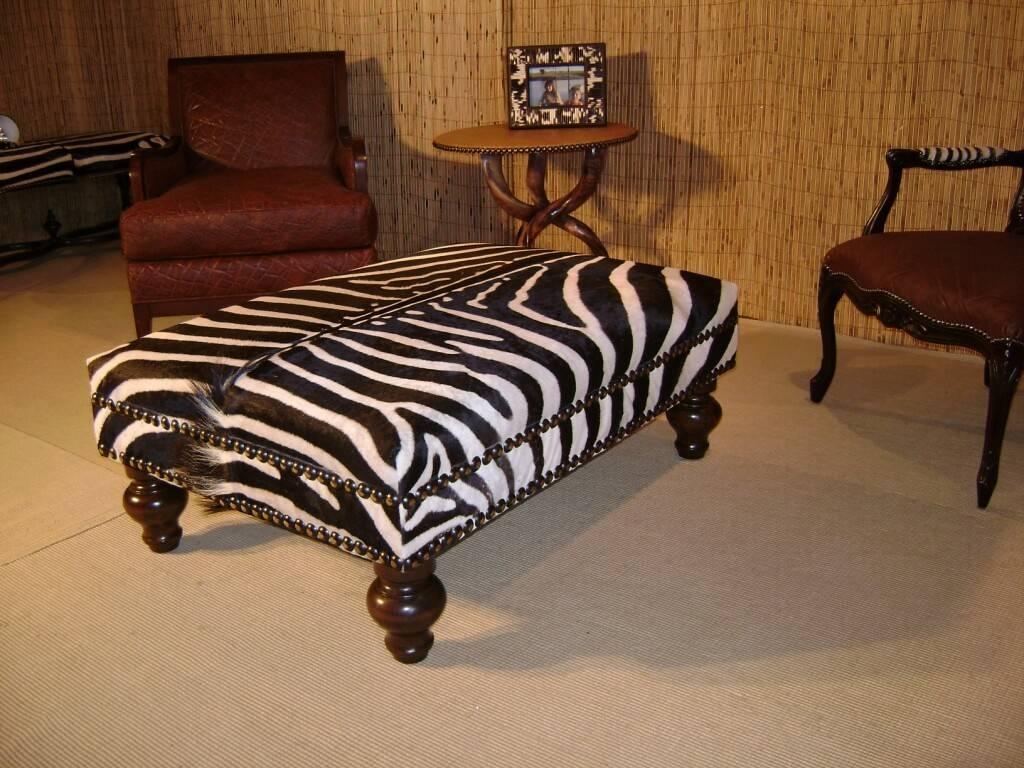 Furniture: Decorative Zebra Ottoman And Rectangular Zebra Ottoman intended for Animal Print Ottoman Coffee Tables (Image 15 of 30)