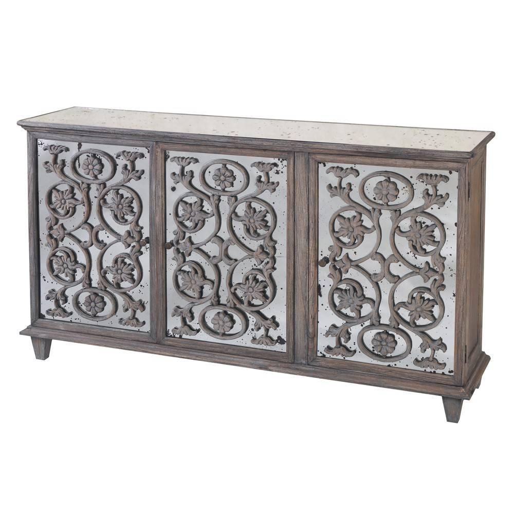 Furniture: Distressed Sideboard   Credenza Table   Metal Credenza in Metal Sideboards (Image 12 of 30)