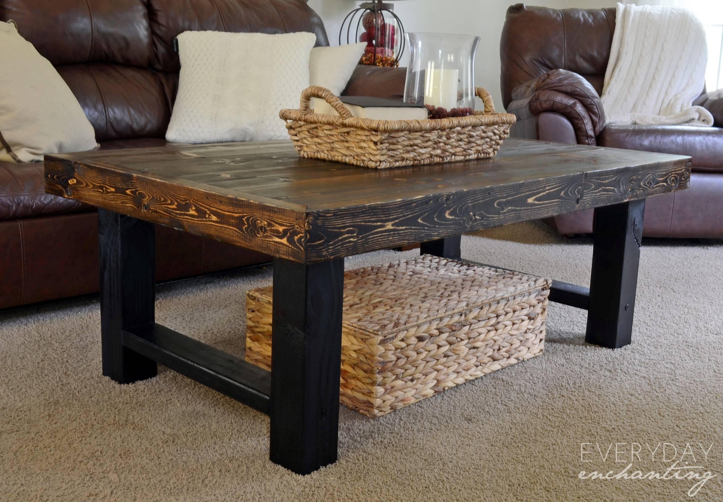 Furniture: Diy Coffee Tables Ideas Diy Rustic Coffee Table within Rustic Wood Diy Coffee Tables (Image 19 of 30)
