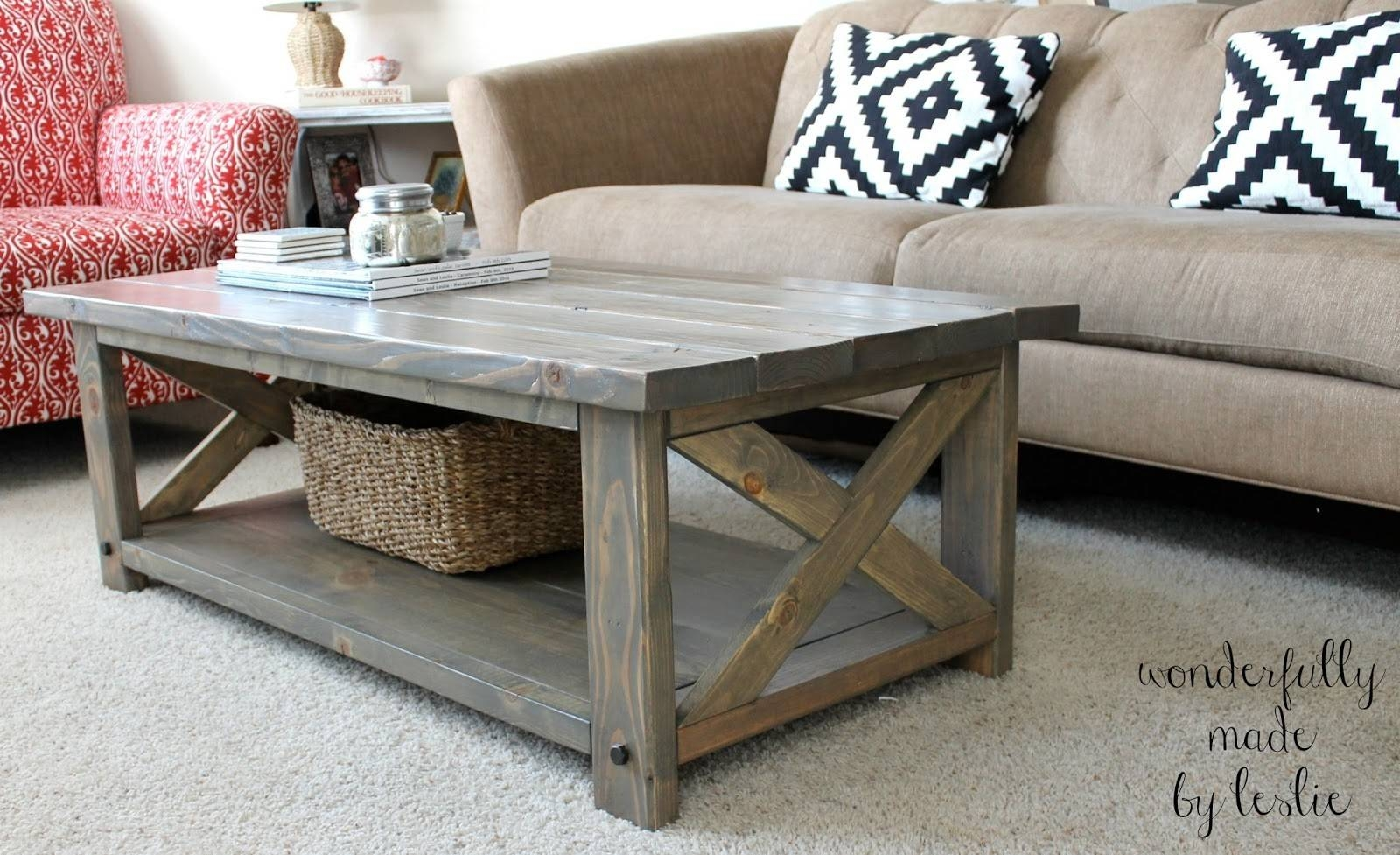 Furniture. Diy Coffee Tables Ideas: Grey Rectangle Rustic Pallet intended for Grey Wood Coffee Tables (Image 14 of 30)
