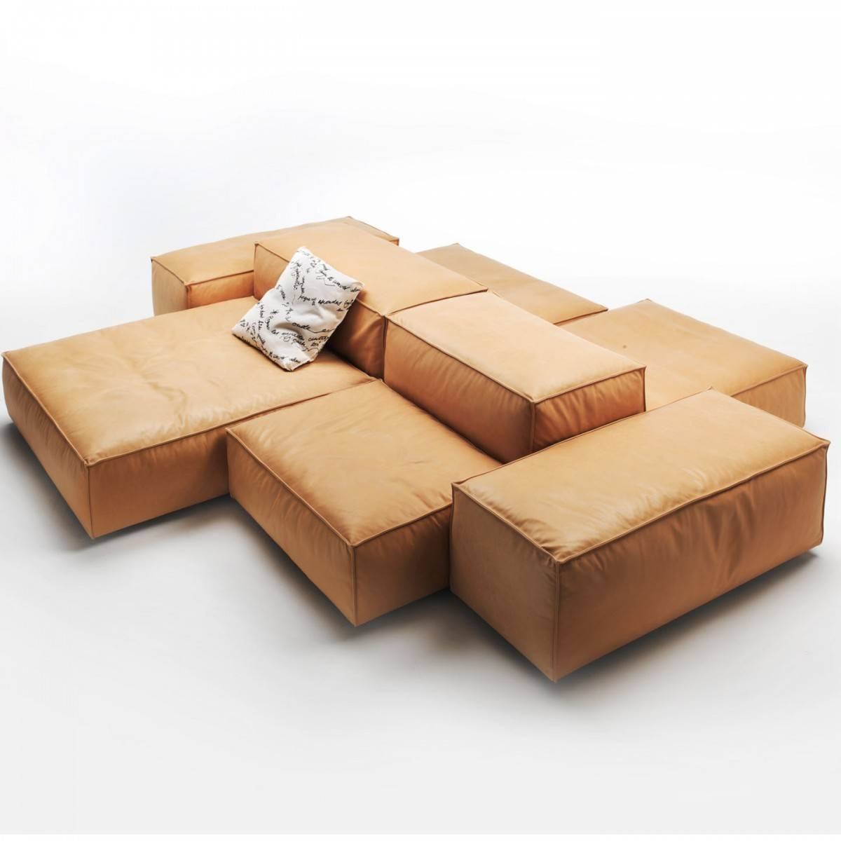 Furniture: Double Sided Sofa For Extra Seating And Cocktail inside Custom Made Sectional Sofas (Image 15 of 30)