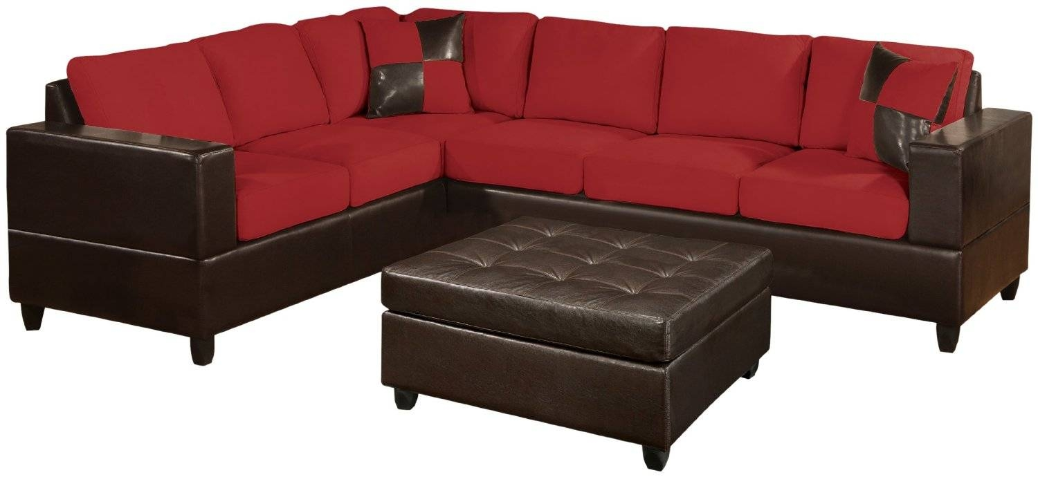 Furniture: Elegant Cheap Sectional Sofas In Red And Black Plus in Red Black Sectional Sofa (Image 14 of 30)