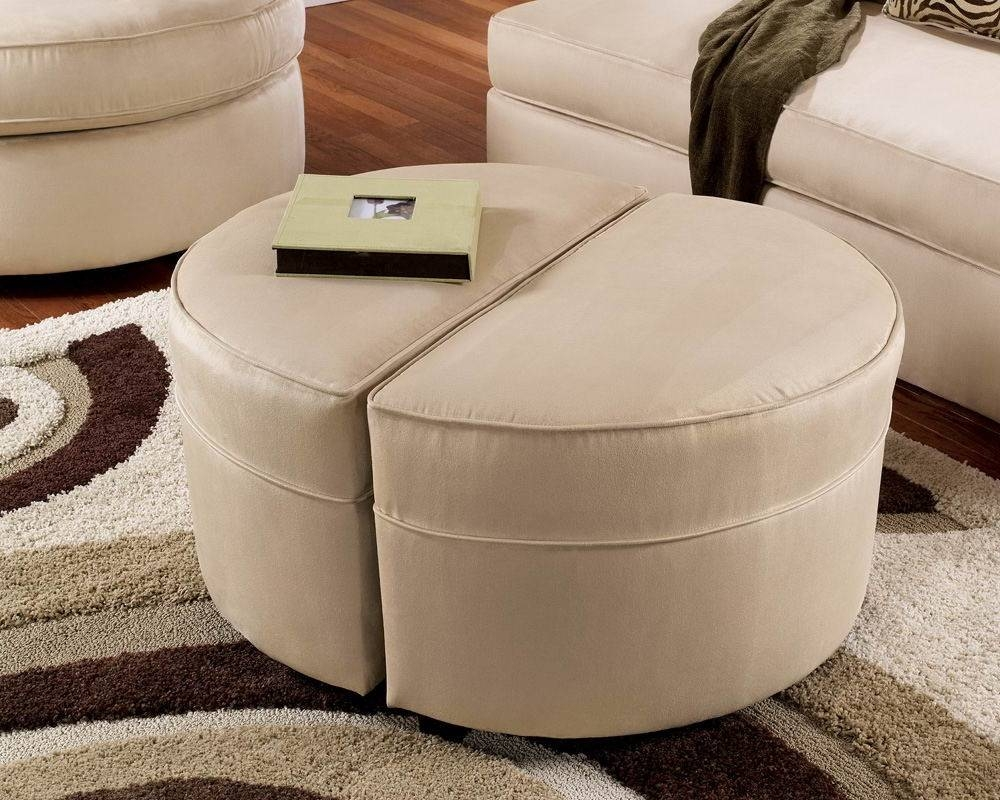 Furniture: Elegant Design Of Pier One Ottoman For Living Room pertaining to Half Circle Coffee Tables (Image 13 of 30)