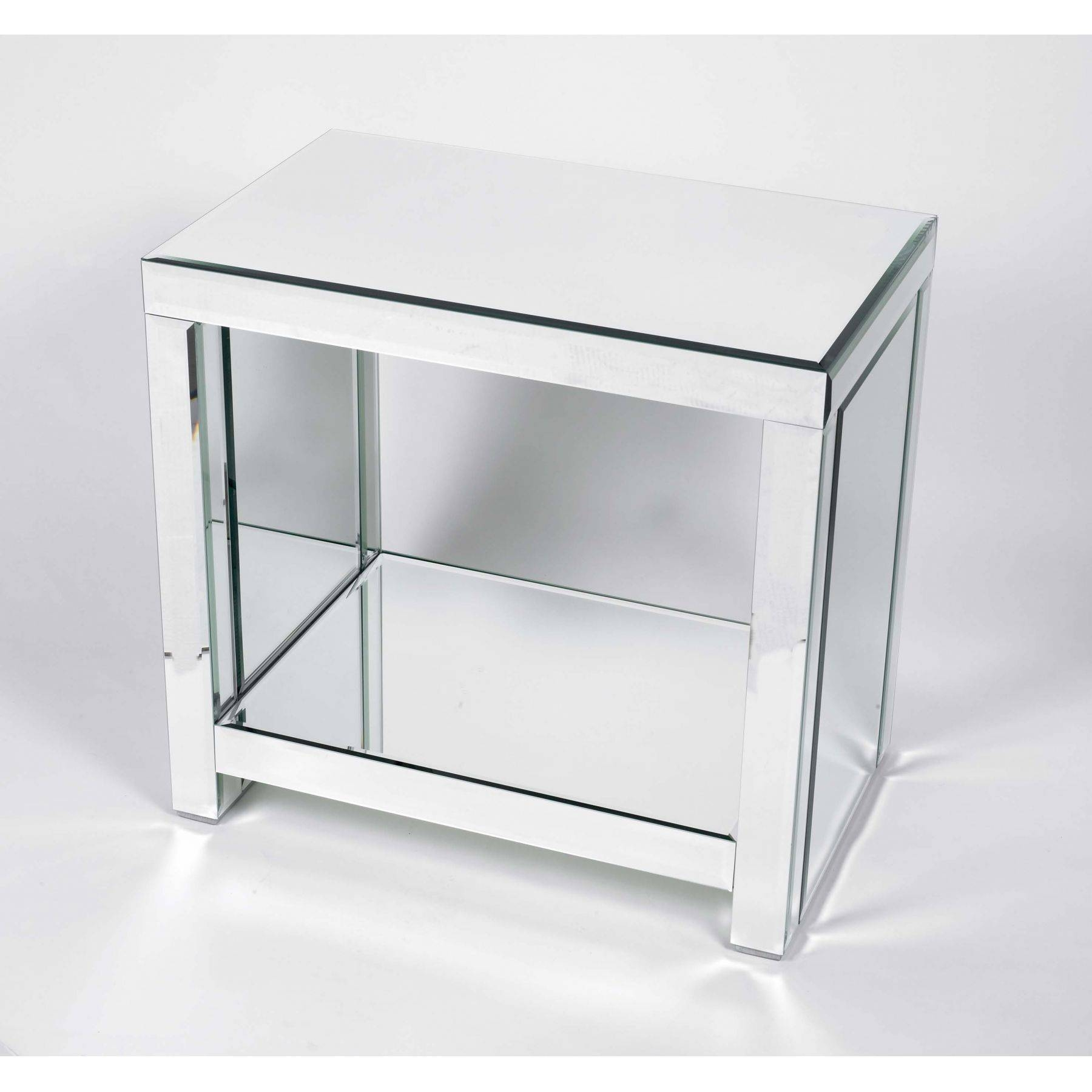 Furniture: Elegant Mirrored Accent Table For Home Furniture Ideas with Half Circle Coffee Tables (Image 14 of 30)