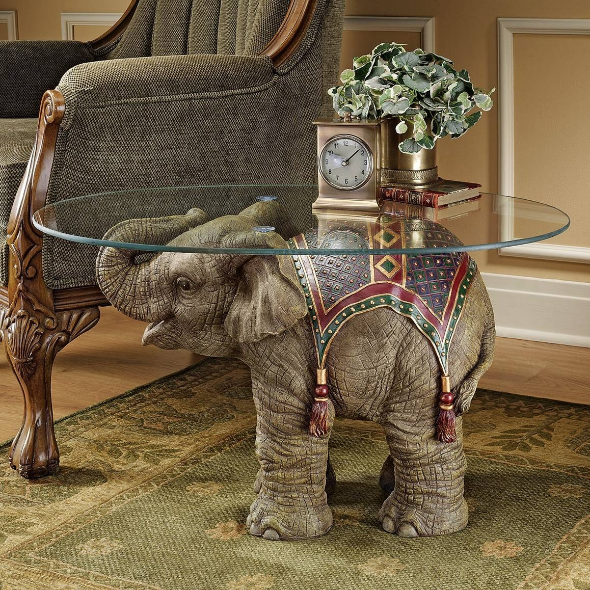 Furniture: Elephant Coffee Table Ideas Antique Elephant Table for Elephant Glass Top Coffee Tables (Image 14 of 30)