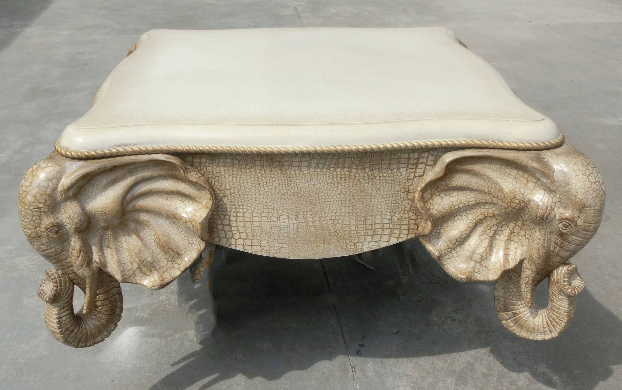 Furniture. Elephant Coffee Table Ideas: Golden Metal Antique regarding Elephant Coffee Tables With Glass Top (Image 20 of 30)