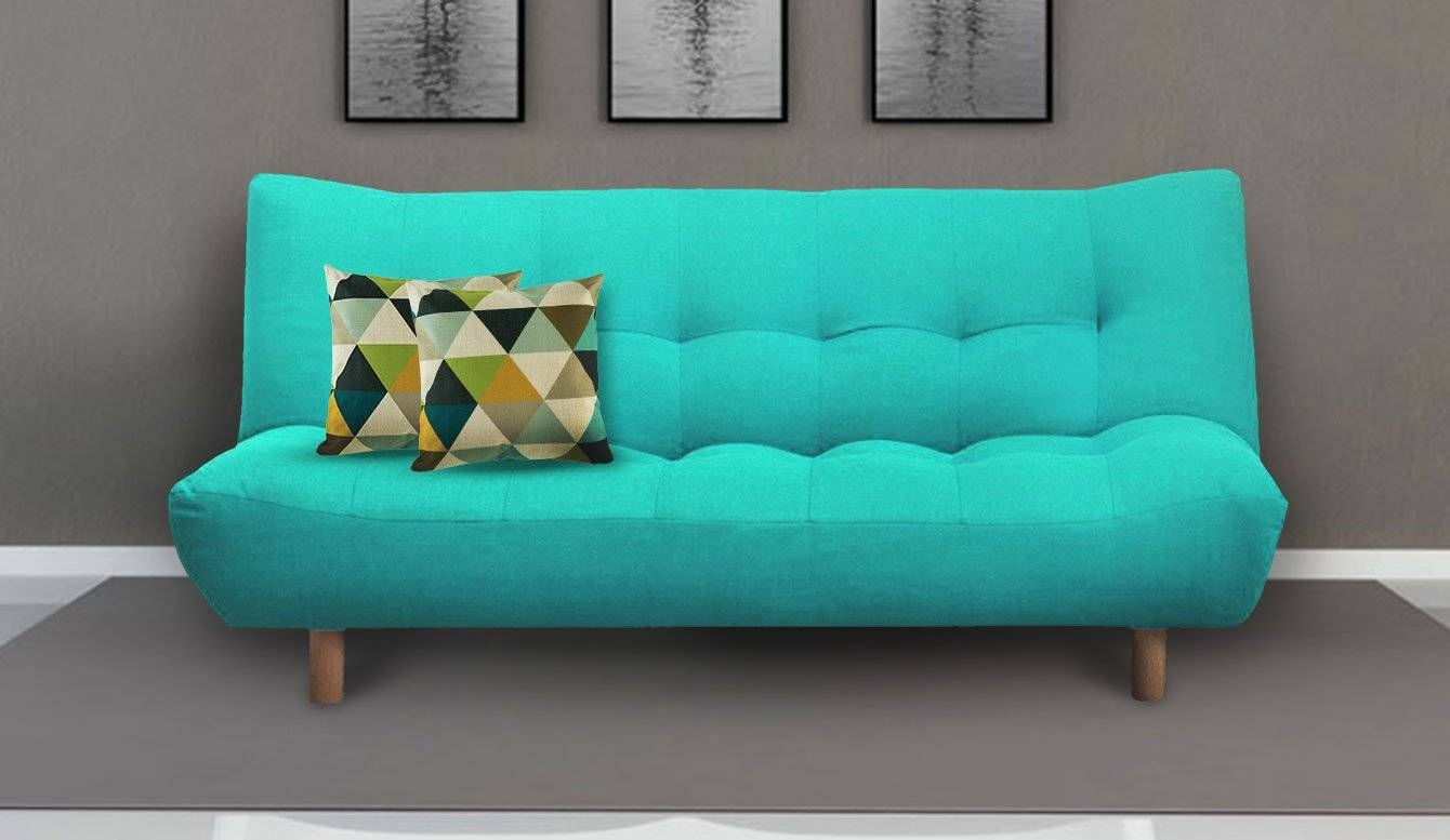 Furniture: Enchanting Design Of Turquoise Sofa For Lovely Home intended for Aqua Sofa Beds (Image 19 of 30)