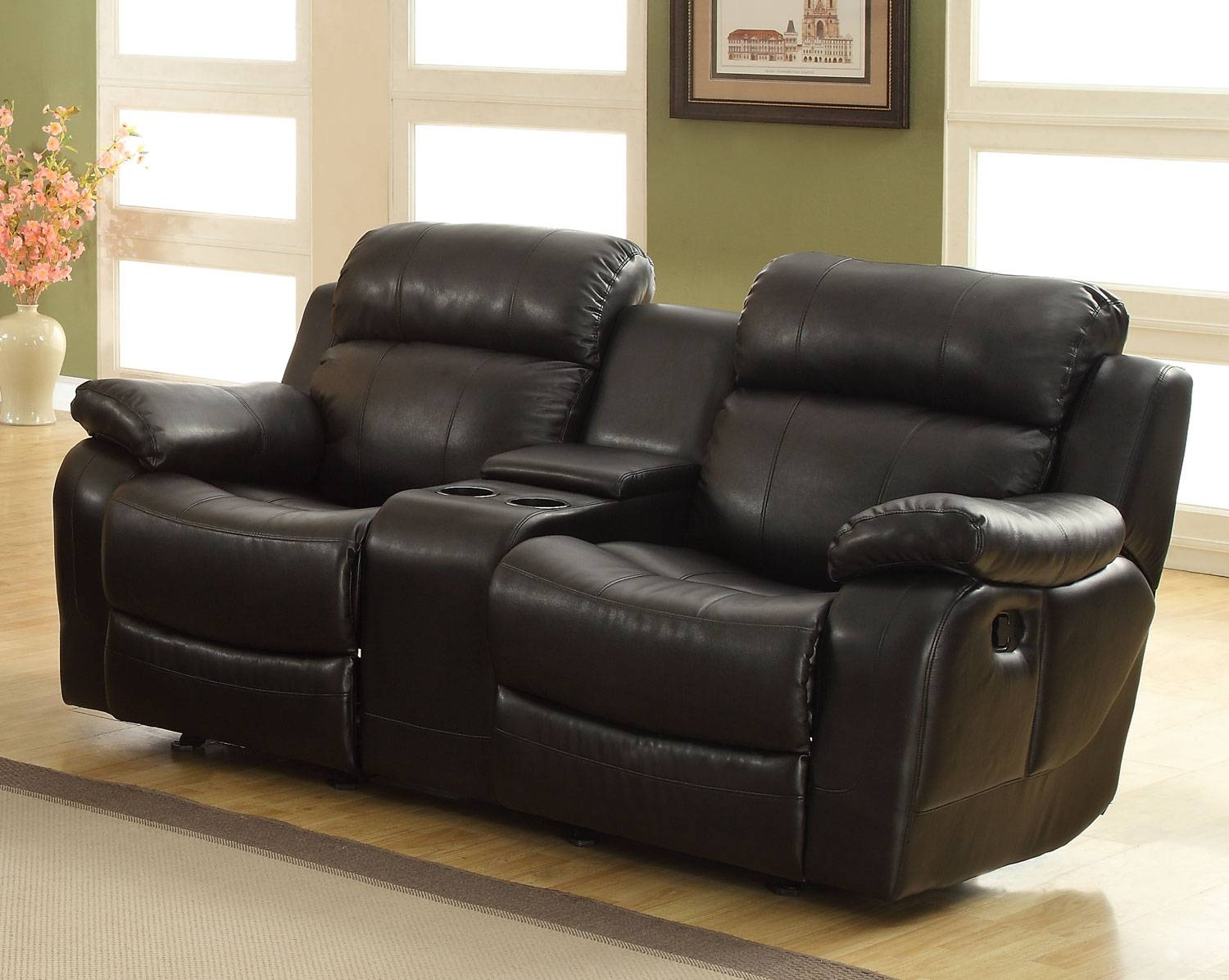 Furniture: Enjoy Your Time With Cozy Rocking Recliner Loveseat For 2 Seater Recliner Leather Sofas (View 2 of 30)