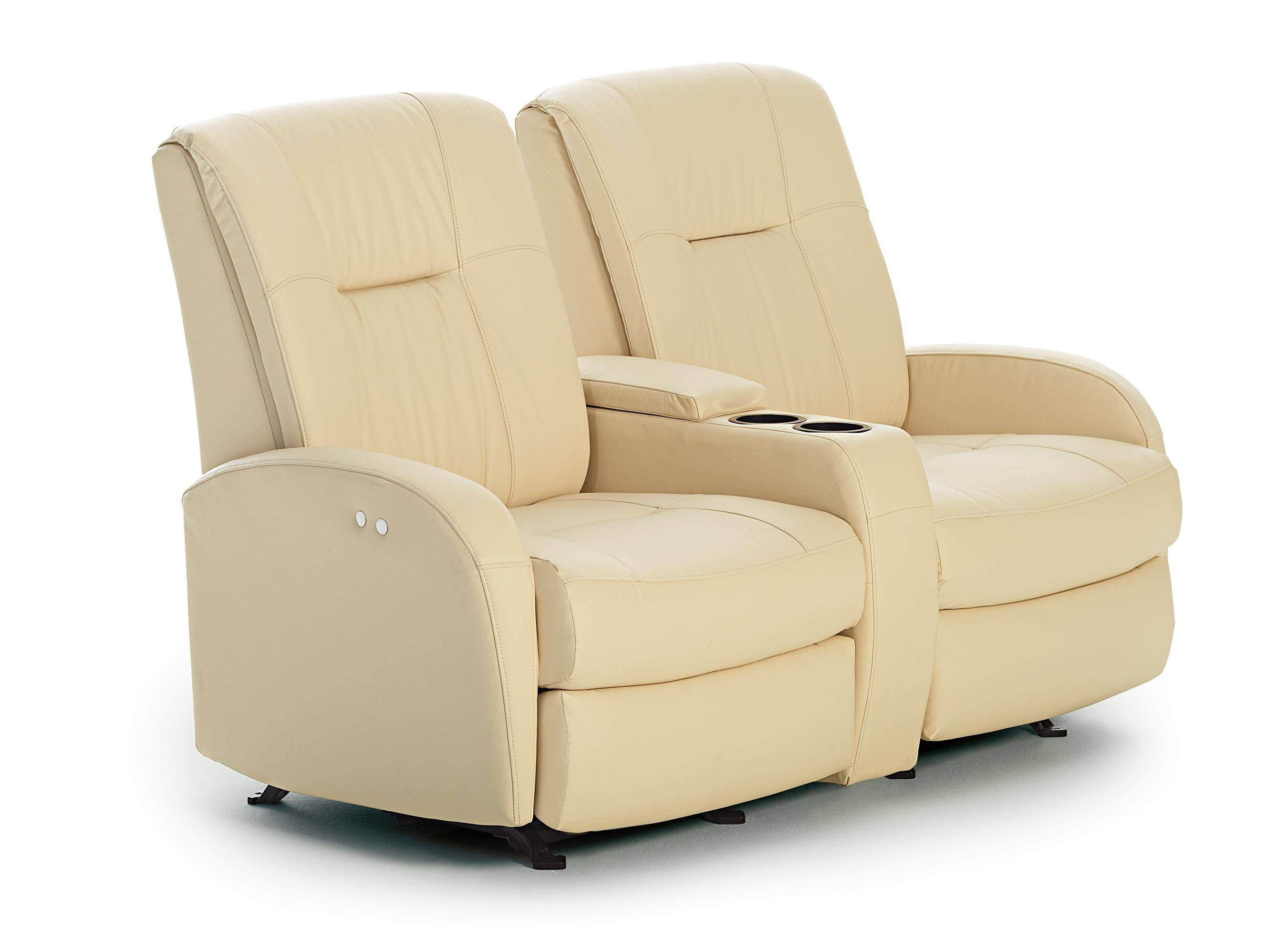 Furniture: Enjoy Your Time With Cozy Rocking Recliner Loveseat in Modern Reclining Leather Sofas (Image 7 of 30)
