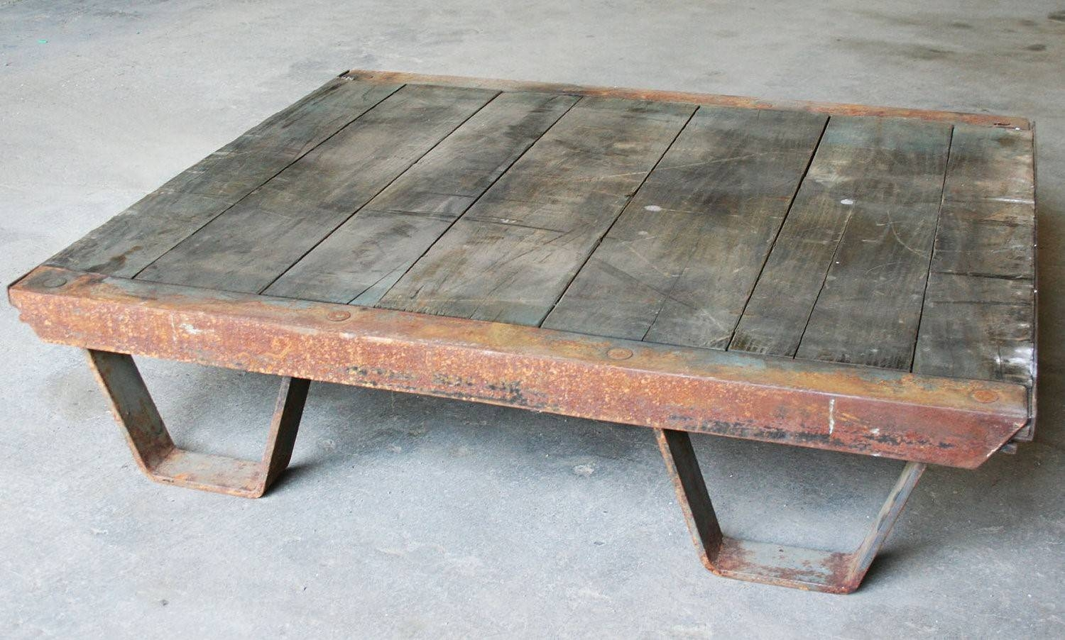 Etsy Coffee Table: Brown Low Square Extra Large Country With Regard To Large