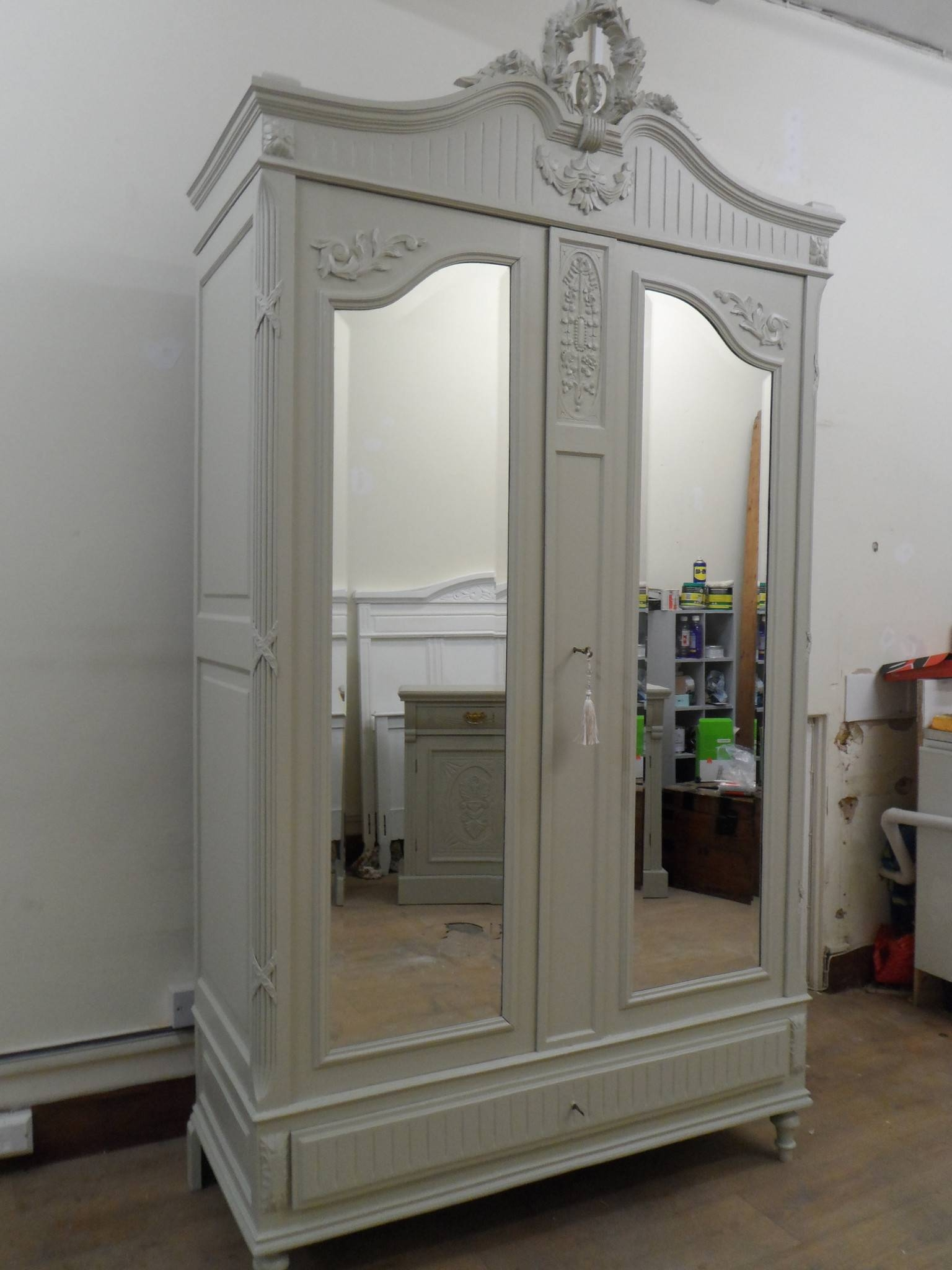 Furniture: Exciting Armoire Wardrobe For Interior Storage Design intended for White French Armoire Wardrobes (Image 7 of 15)