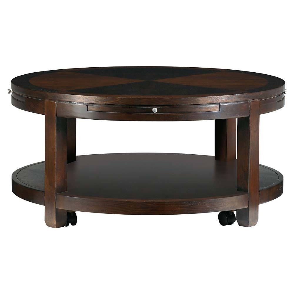 Furniture. Exciting Small Round Coffee Tables Design Ideas: Black inside Round Coffee Tables With Drawer (Image 11 of 30)