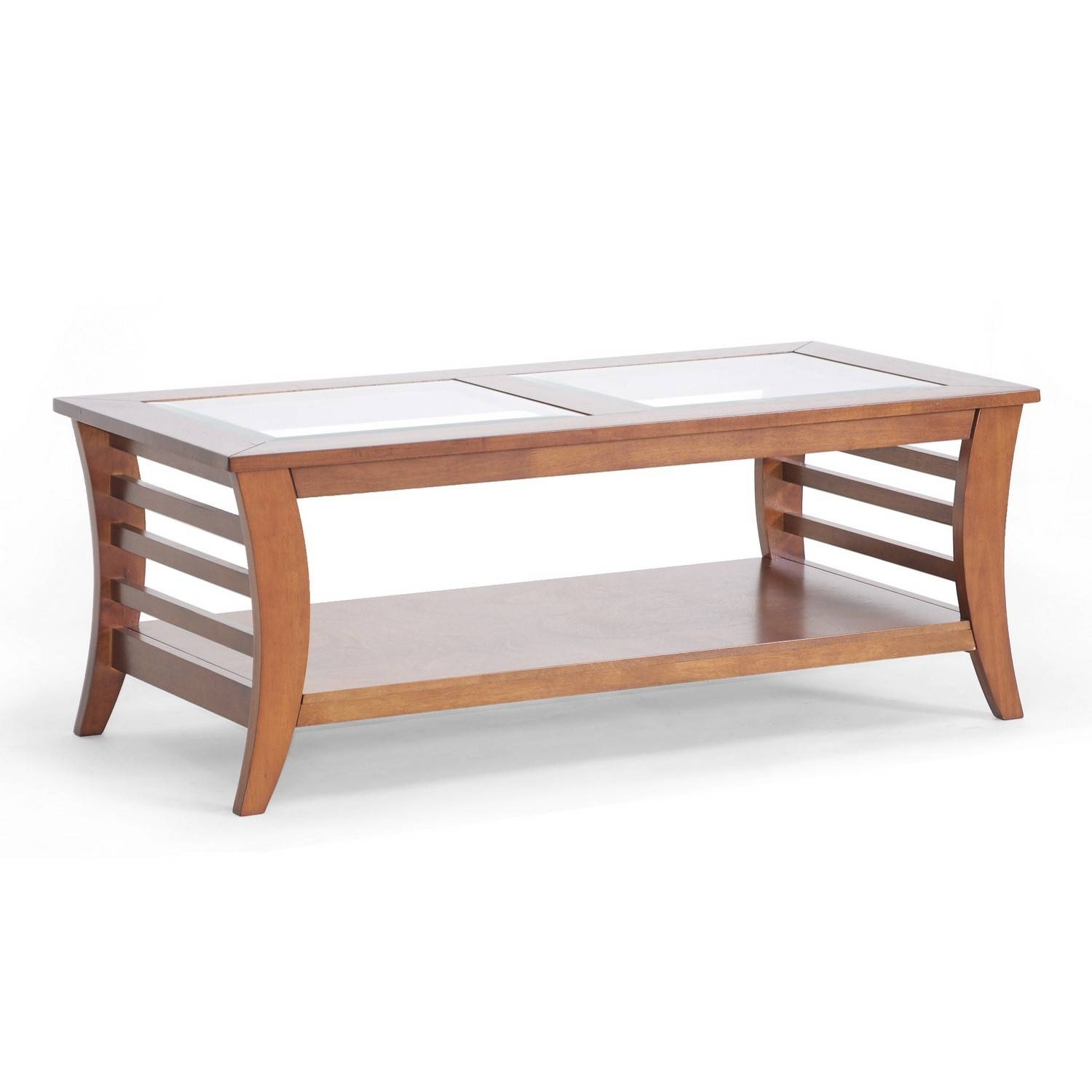 Furniture. Exciting Wood Glass Coffee Table Ideas: Brown Rectangle pertaining to Wooden and Glass Coffee Tables (Image 16 of 30)