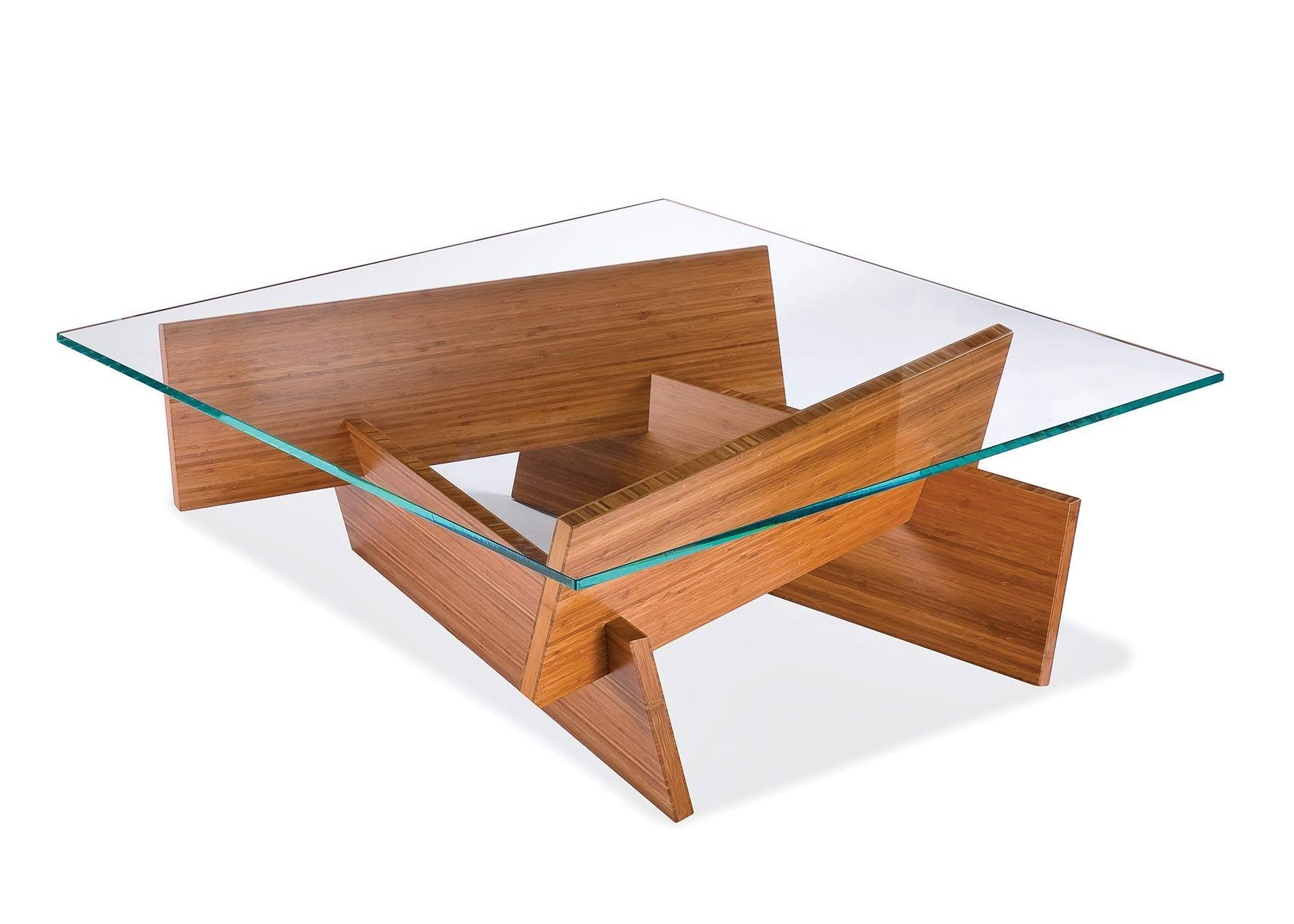 Furniture. Exciting Wood Glass Coffee Table Ideas: Brown Square intended for Wooden And Glass Coffee Tables (Image 17 of 30)