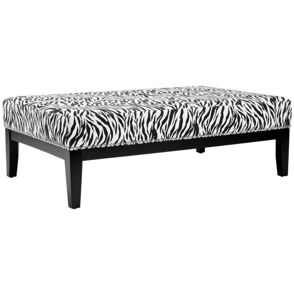 Furniture: Exotic Zebra Ottoman With Small Zebra Coffee Table throughout Leopard Ottoman Coffee Tables (Image 12 of 30)