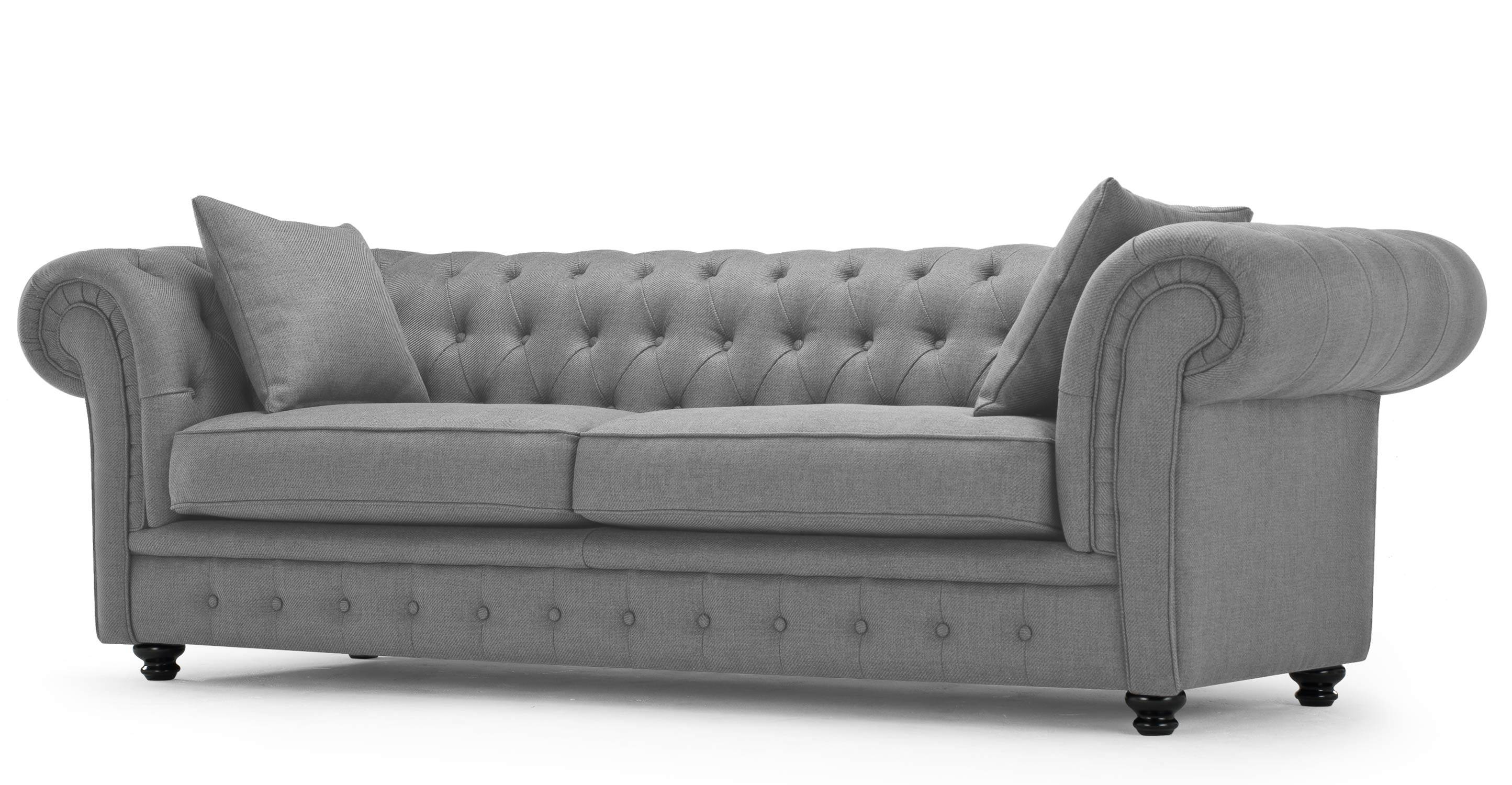 Furniture: Exquisite Comfort With Leather Tufted Sofa inside Cheap Tufted Sofas (Image 3 of 30)