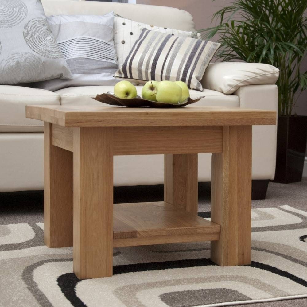 Furniture. Extraordinary Small Square Coffee Table Designs: Brown regarding Square Oak Coffee Tables (Image 10 of 30)